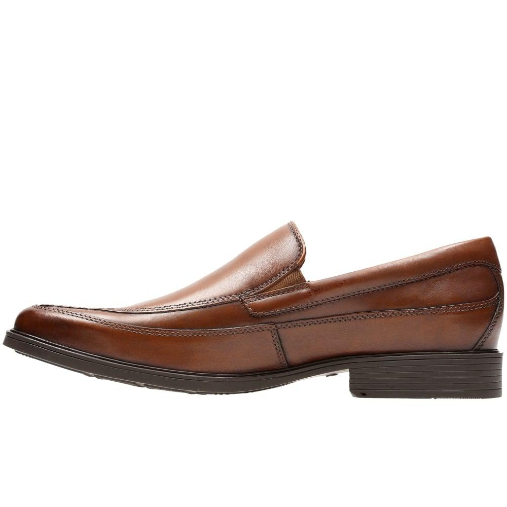 Mens Brown Leather Wide Fitting Shoes