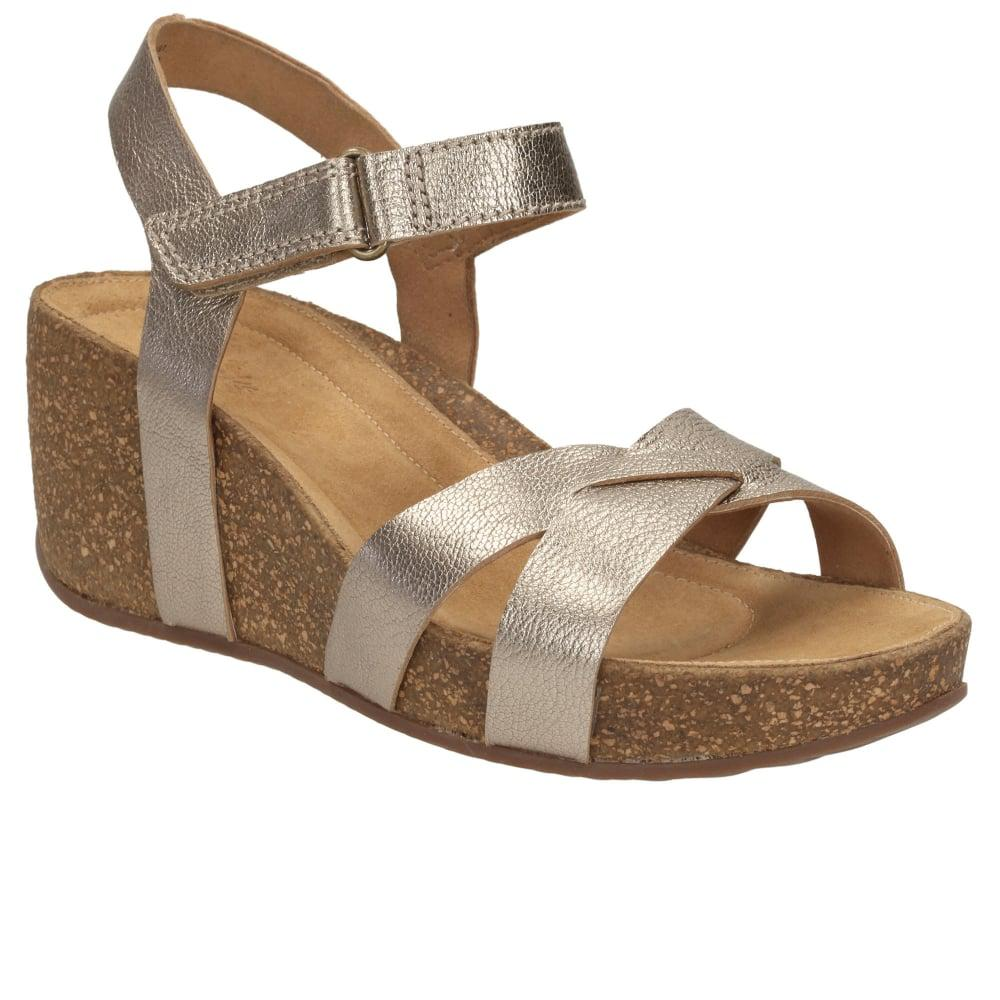 b47706ffd4 Lyst - Clarks Temira Compass Womens Casual Sandals in Metallic