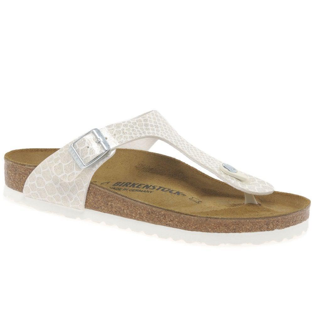 Lyst - Birkenstock Gizeh Womens Casual Toe Post Sandals in White 7f4262f6d2