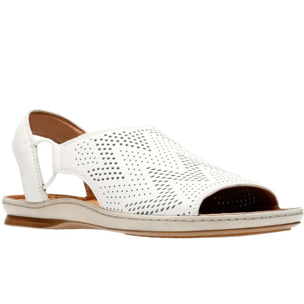 0d39f9fe2f42 Lyst - Clarks Sarla Cadence Womens Peep-toe Sandals in White