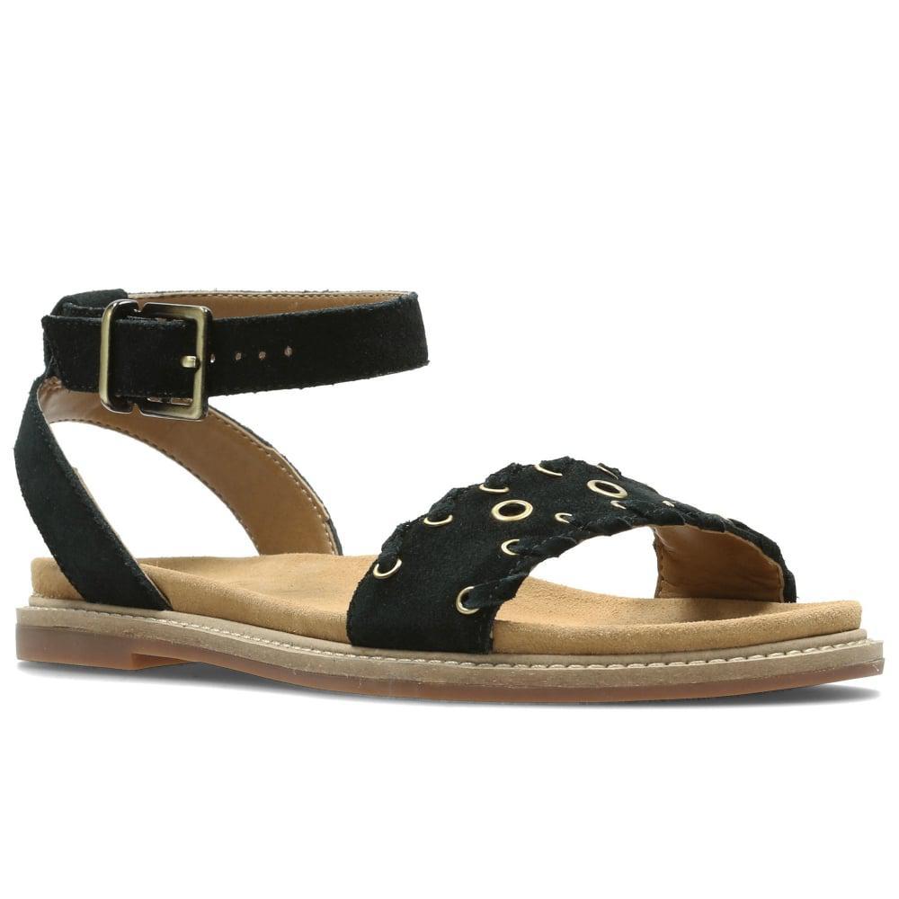 506ecee6c Clarks Corsio Amelia Womens Flat Sandals in Black - Lyst