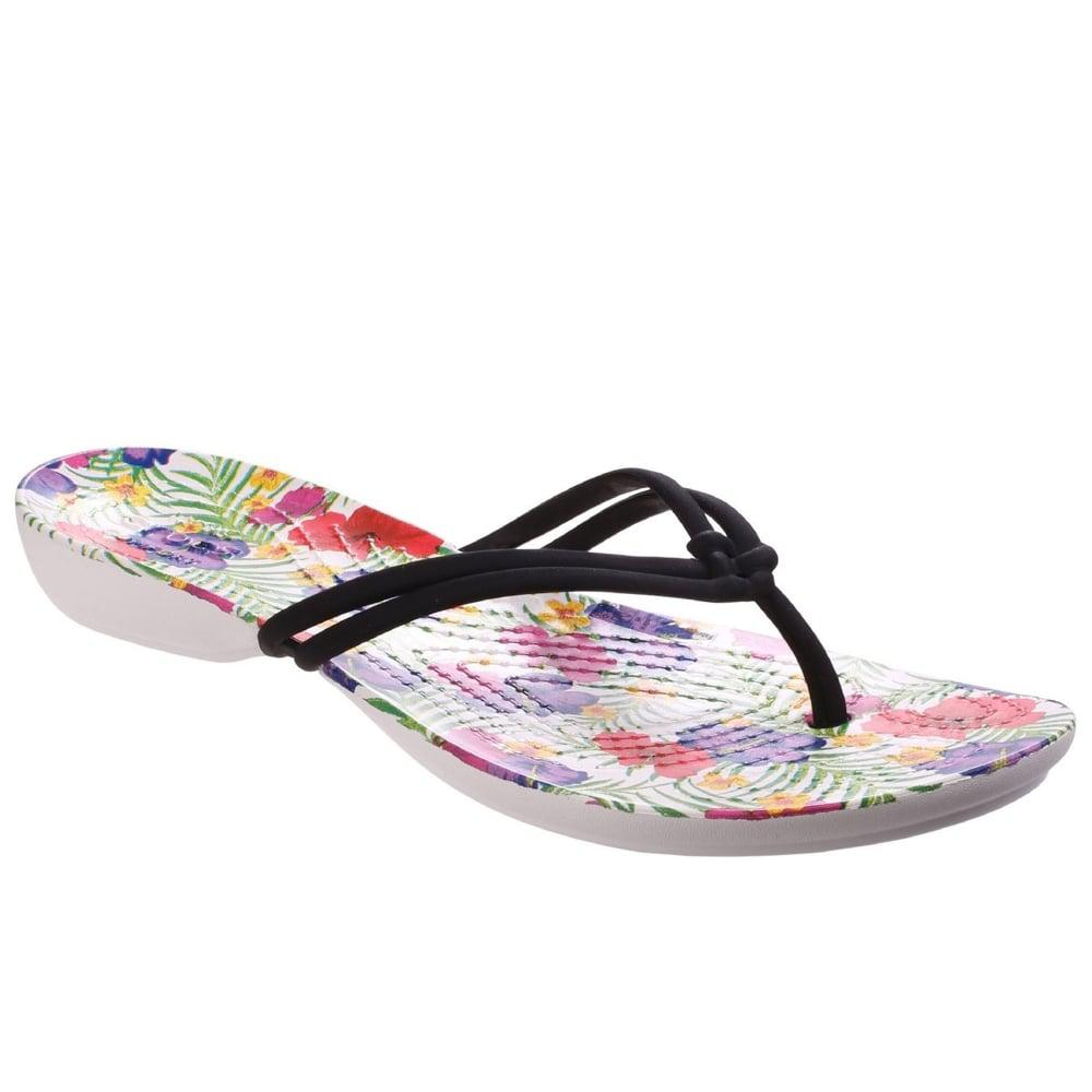 65c1c291f Crocs™ Isabella Graphic Flip Womens Sandals in Black - Lyst