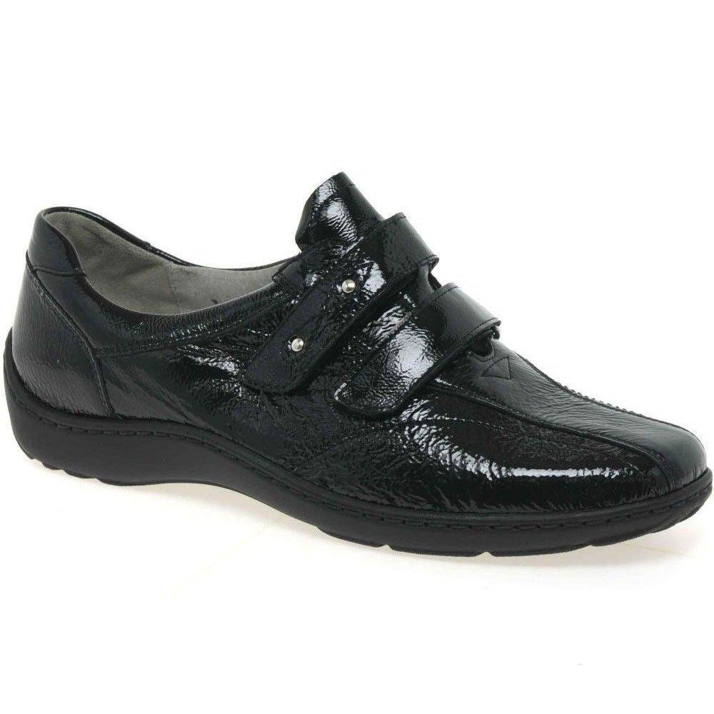 2c7d8440d64 Lyst - Waldläufer Stone Womens Rip Tape Fastening Shoes in Black