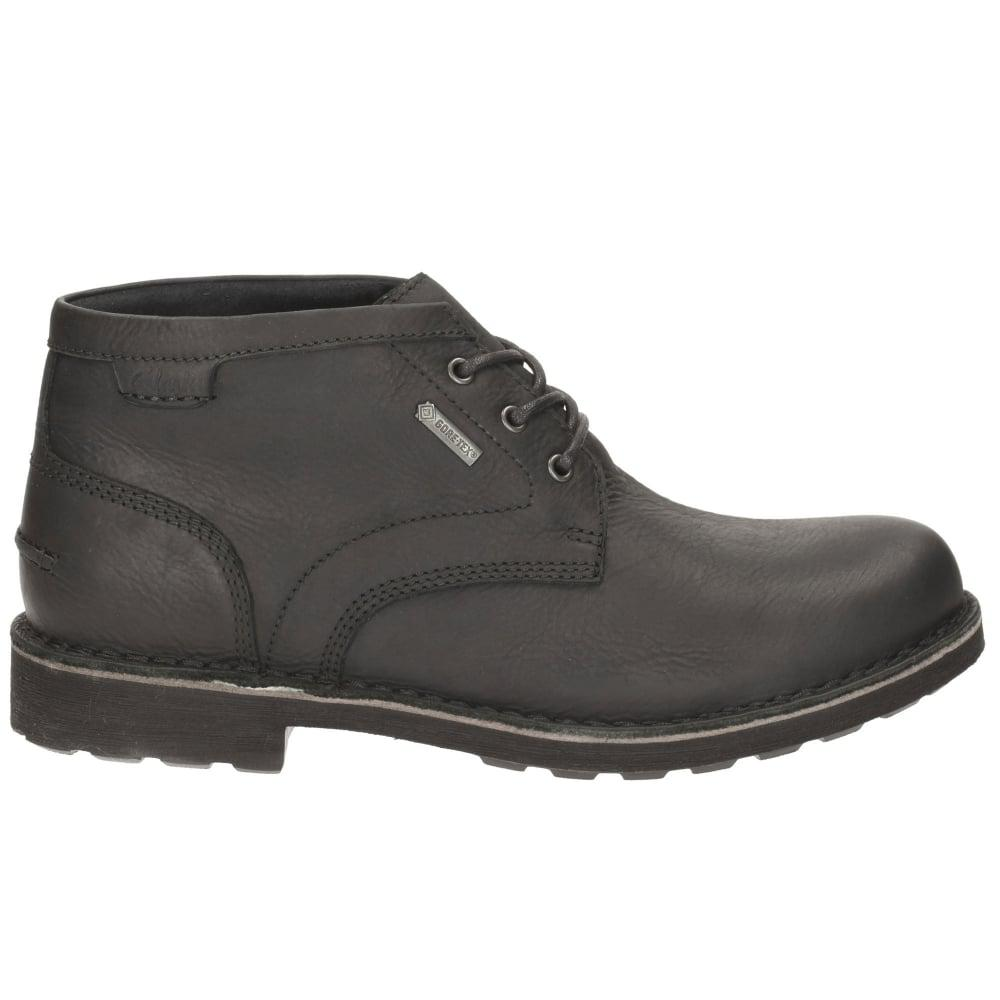 9854fdde3c78d Lyst - Clarks Lawes Mid Gtx Mens Casual Boots in Black for Men
