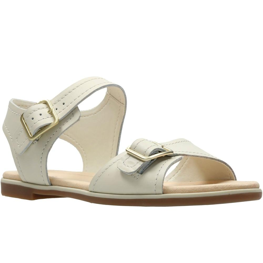 1ef5563c5e6 Lyst - Clarks Bay Primrose Womens Sandals in White