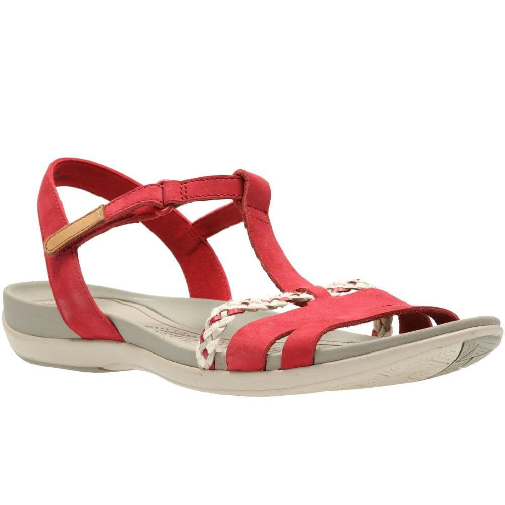 ec4521b14ff2 Lyst - Clarks Tealite Grace Womens T-bar Sandals in Red