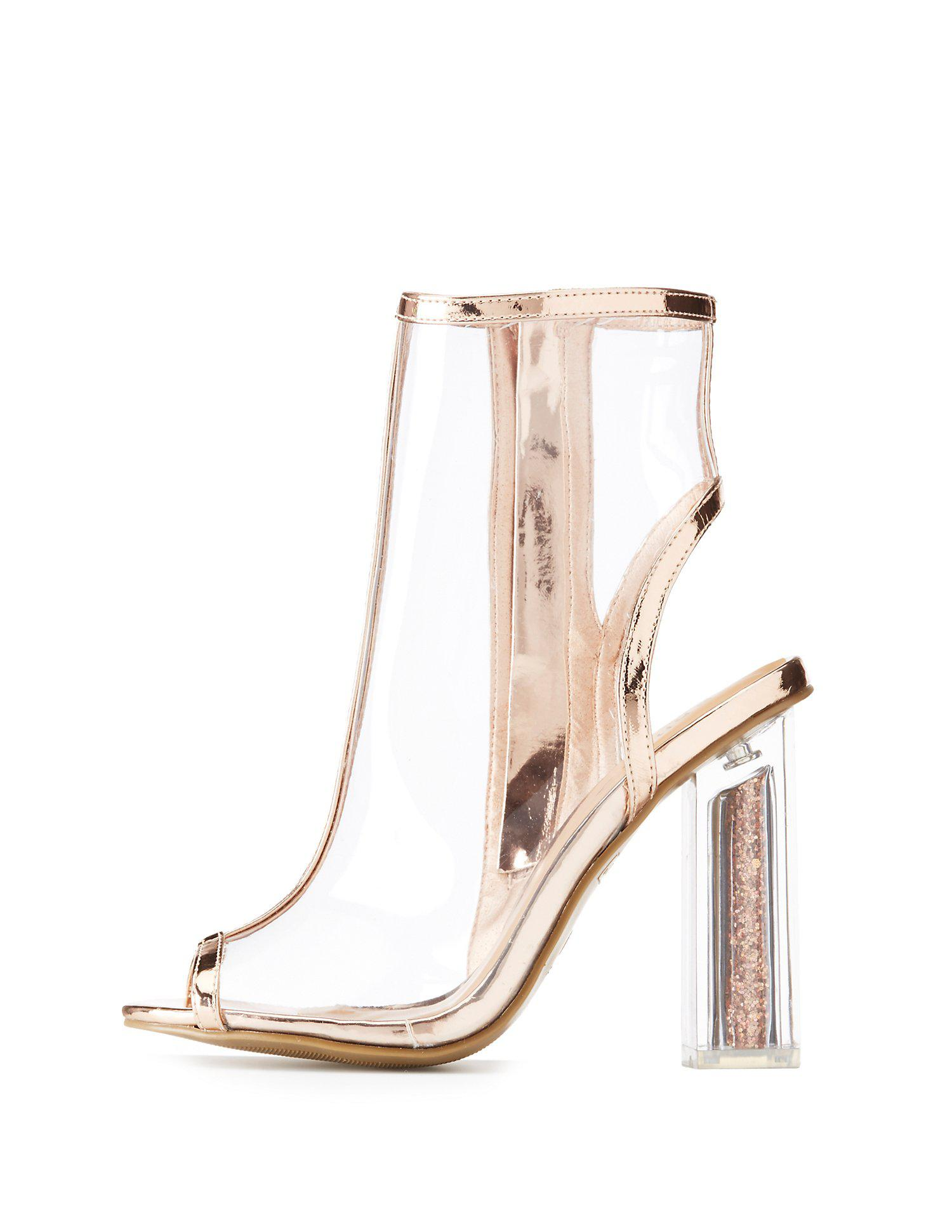 a60fef11693 Gallery. Previously sold at  Charlotte Russe · Women s Peep Toe ...