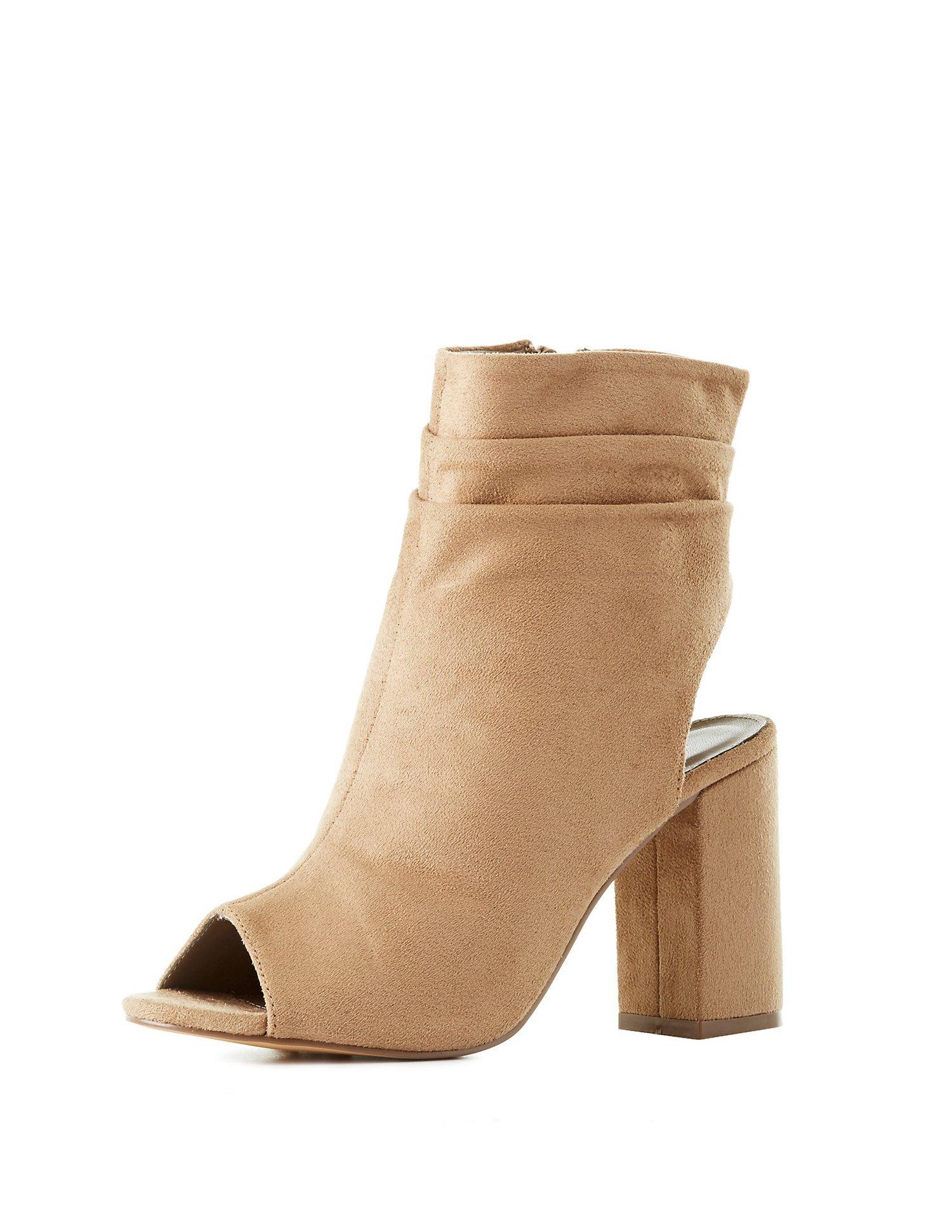 4f7fb007dbb5 Gallery. Previously sold at  Charlotte Russe · Women s Peep Toe Booties ...