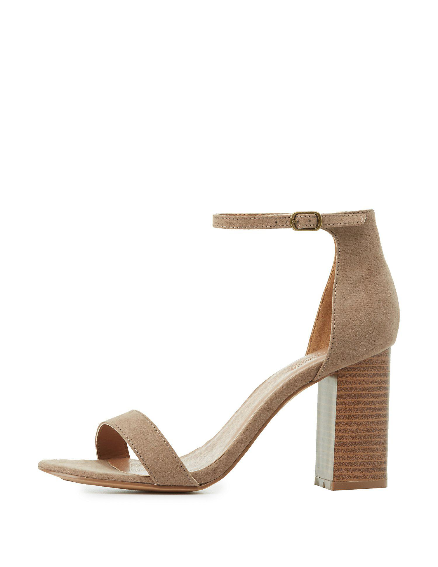 91c82cd117cd Charlotte Russe - Multicolor Two-piece Chunky Heel Sandals - Lyst