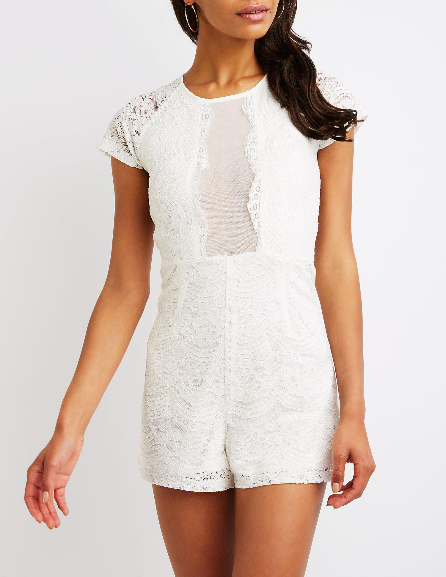 5f35606a903c Gallery. Previously sold at  Charlotte Russe · Women s Off The Shoulder  Rompers ...