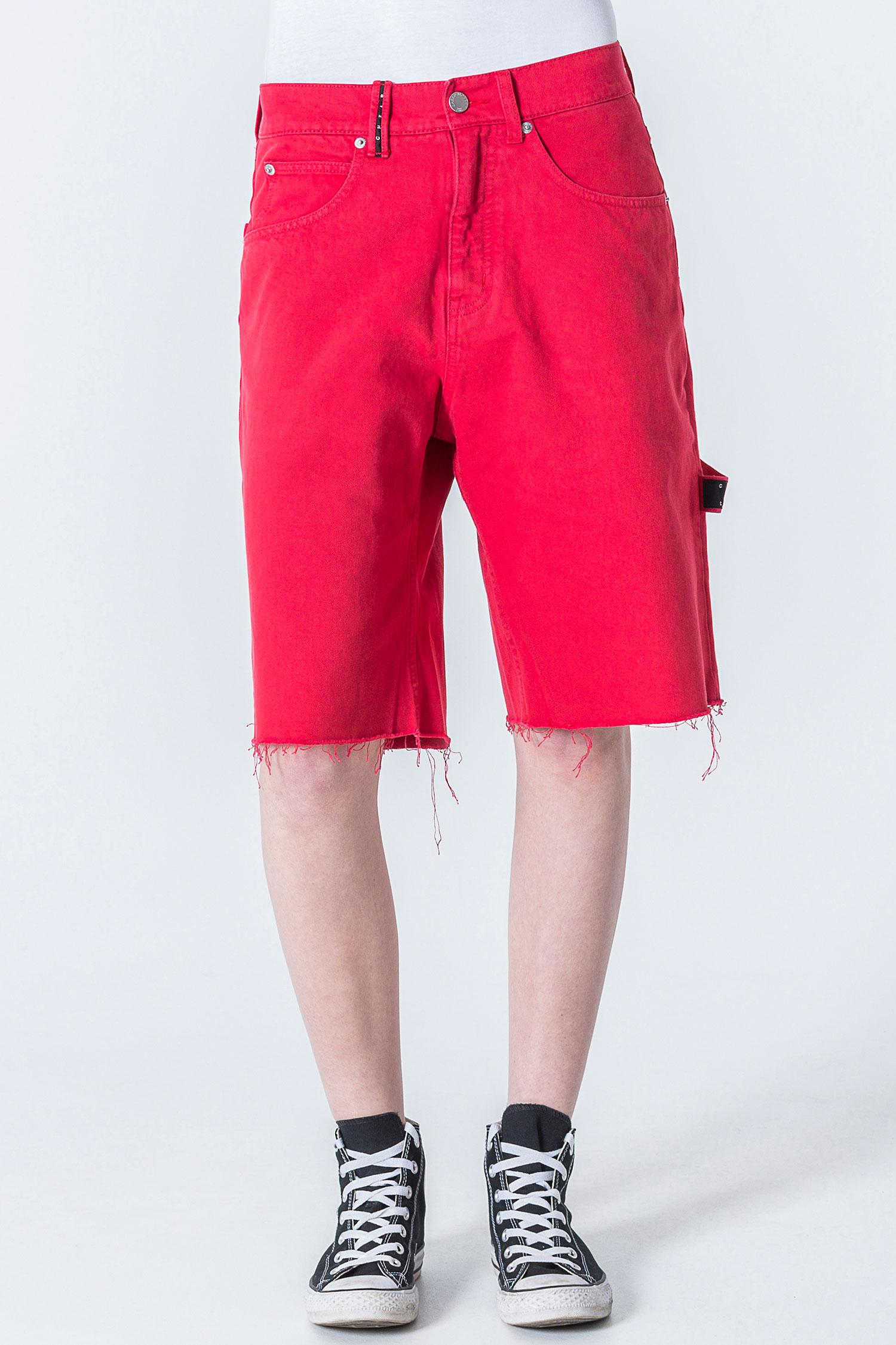 1d8b91ef84 Cheap Monday Cred Od Red Shorts in Red - Lyst