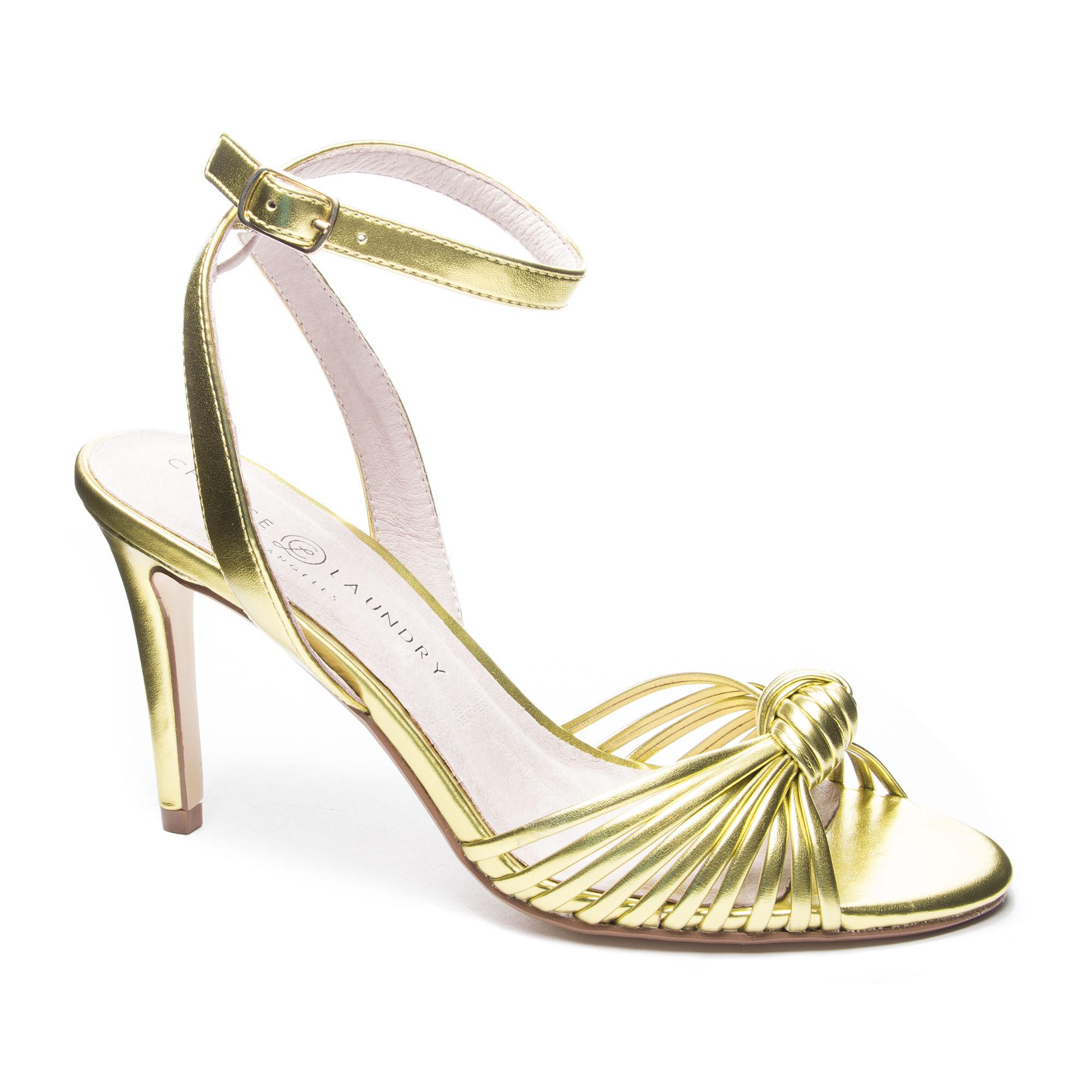 cc2cc31a6a45 Lyst - Chinese Laundry Selina Ankle Strap Sandal in Metallic