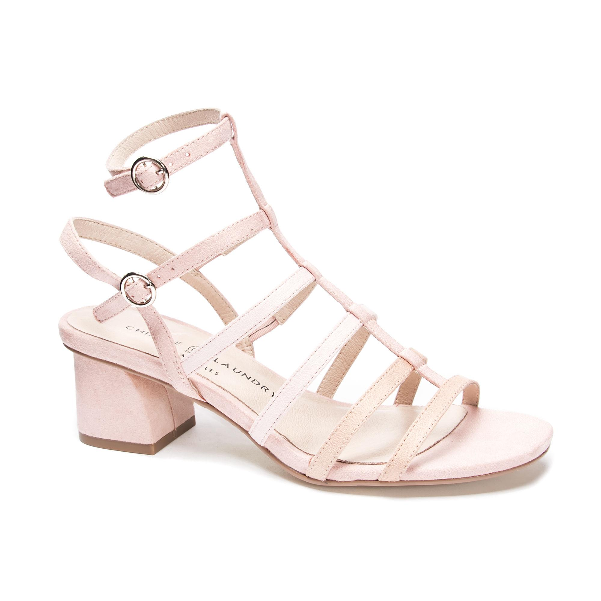 e42cfc78450 Lyst - Chinese Laundry Monroe Block Heel Sandal in Pink