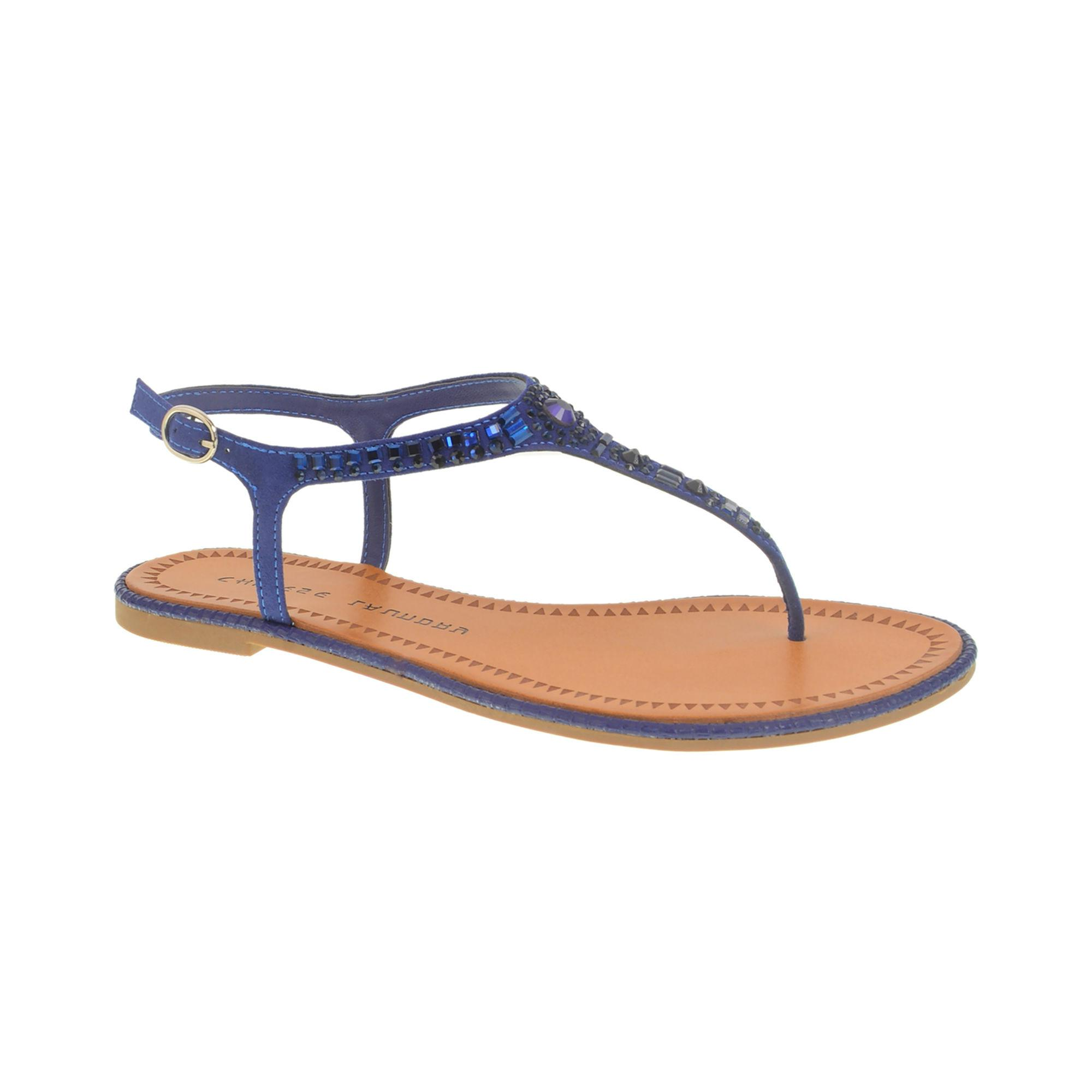 e269410042e6 Lyst - Chinese Laundry Genya Thong Sandal With Stone Detailing in Blue