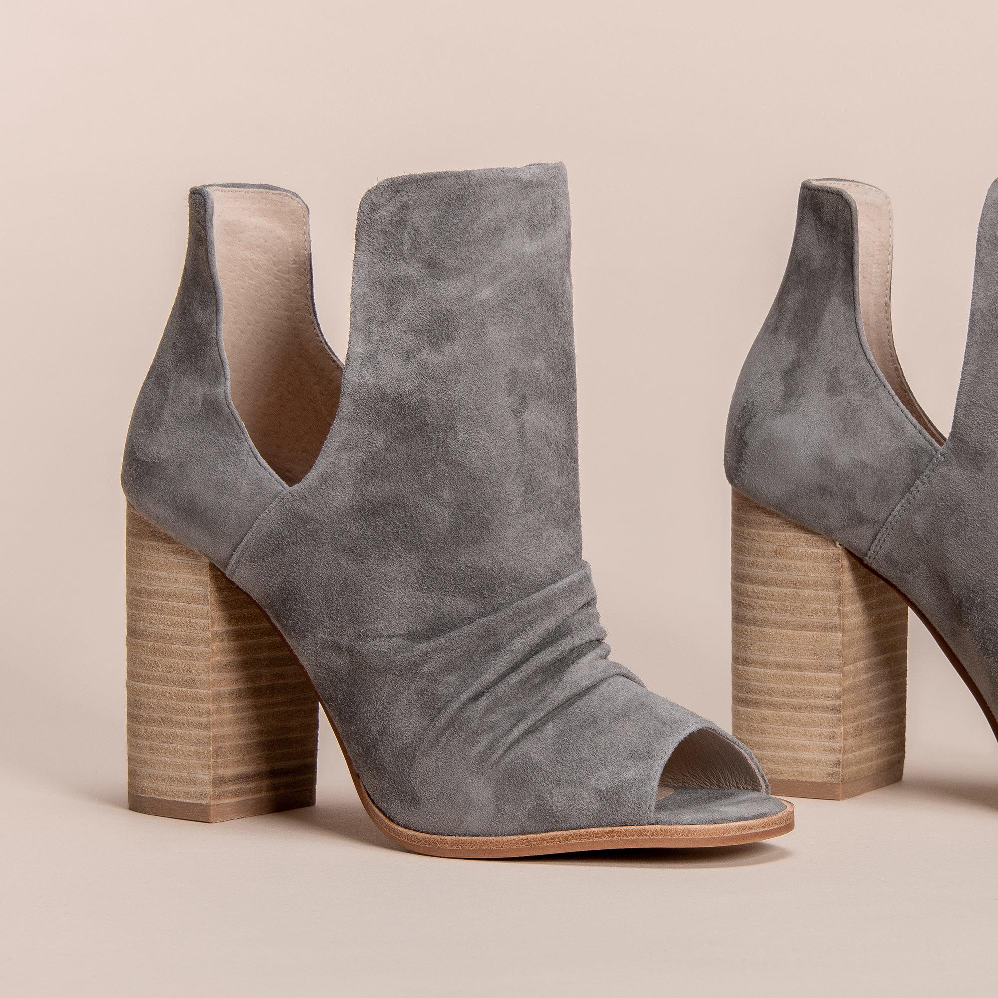 a1b8ca9c263 Lyst - Chinese Laundry Leena Peep Toe Bootie in Gray