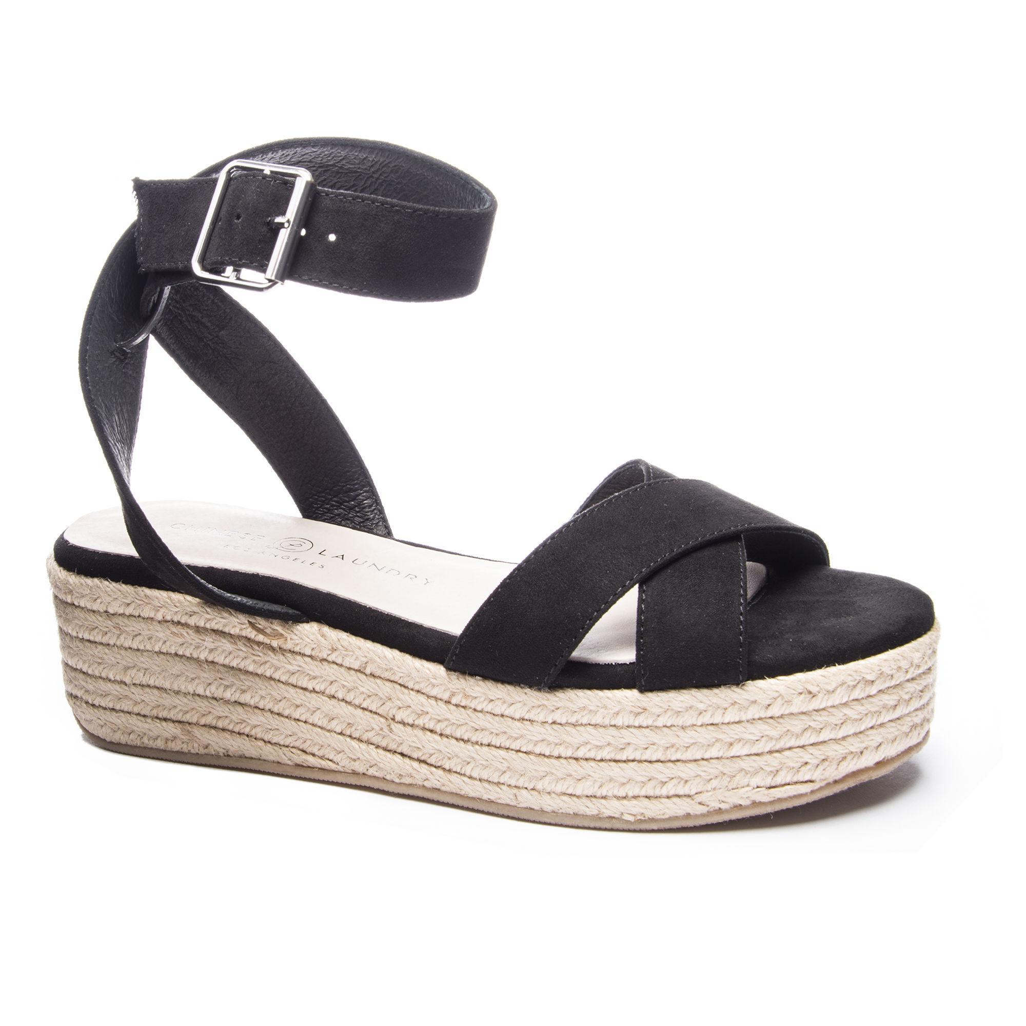 2148ed76ba2e Lyst - Chinese Laundry Zala Wedge Sandal in Black
