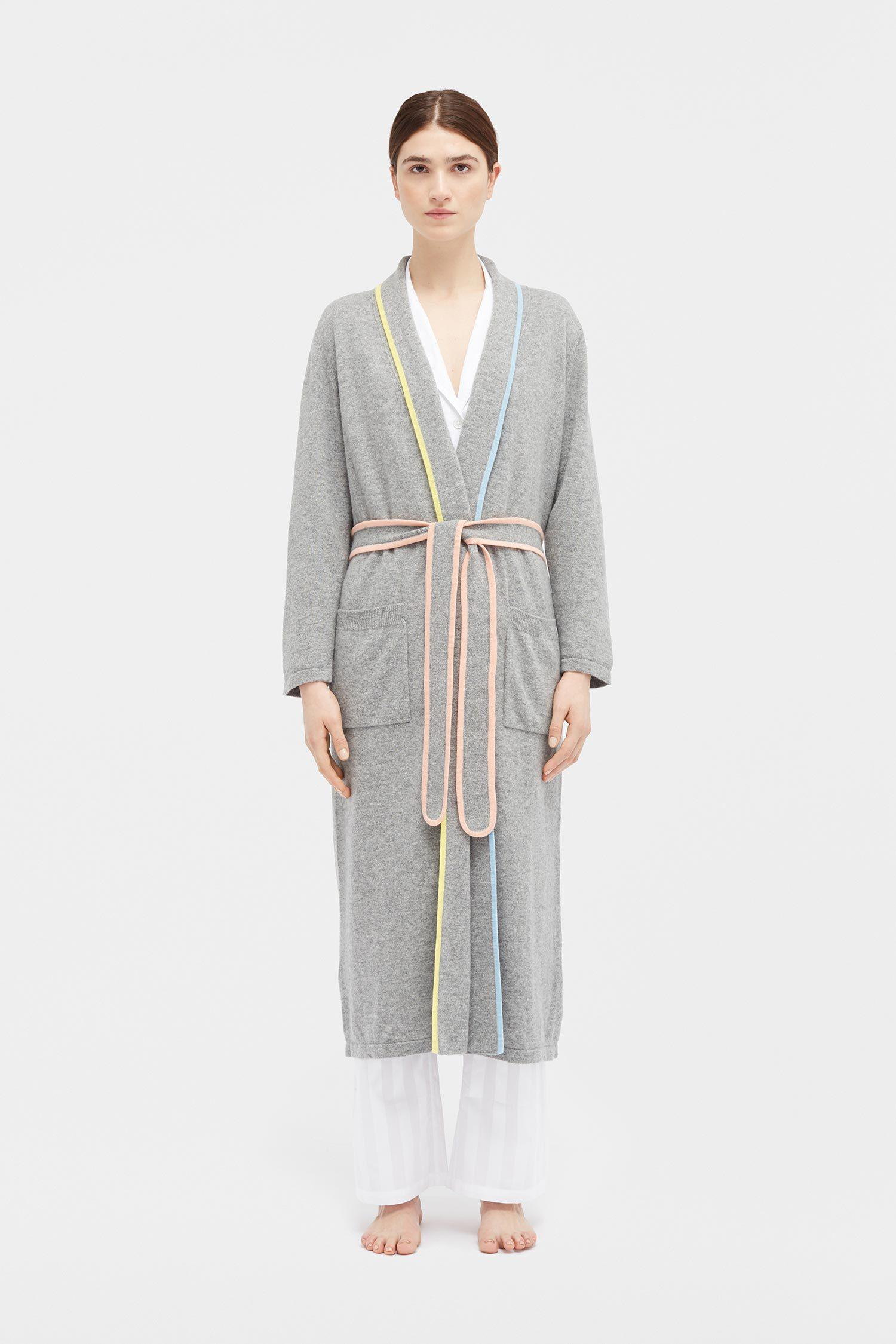 6cd55f1a1b Lyst - Chinti   Parker Grey Cashmere Belted Dressing Gown in Gray