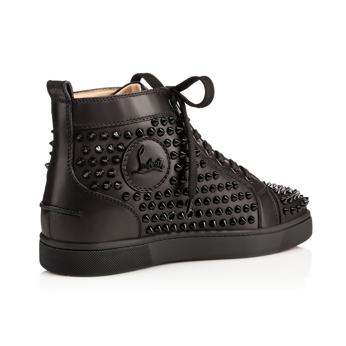 christian louboutin louis spikes studded high top sneakers. Black Bedroom Furniture Sets. Home Design Ideas