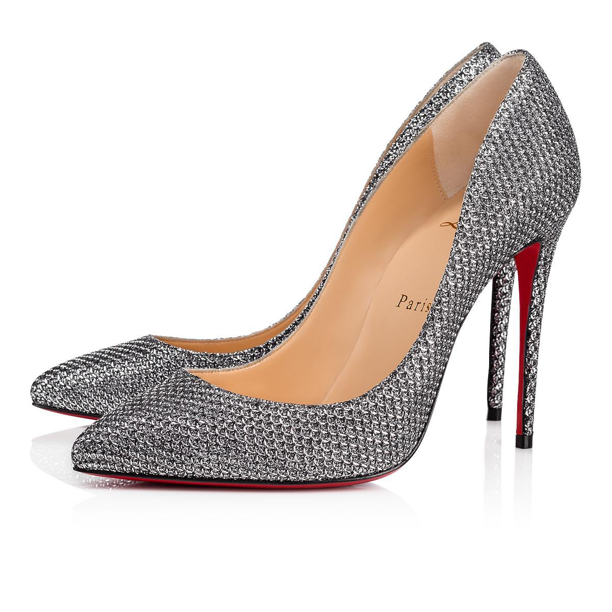 buy popular ca295 9e17b Christian Louboutin Pigalle Follies Glitter Diams 100 Antic ...