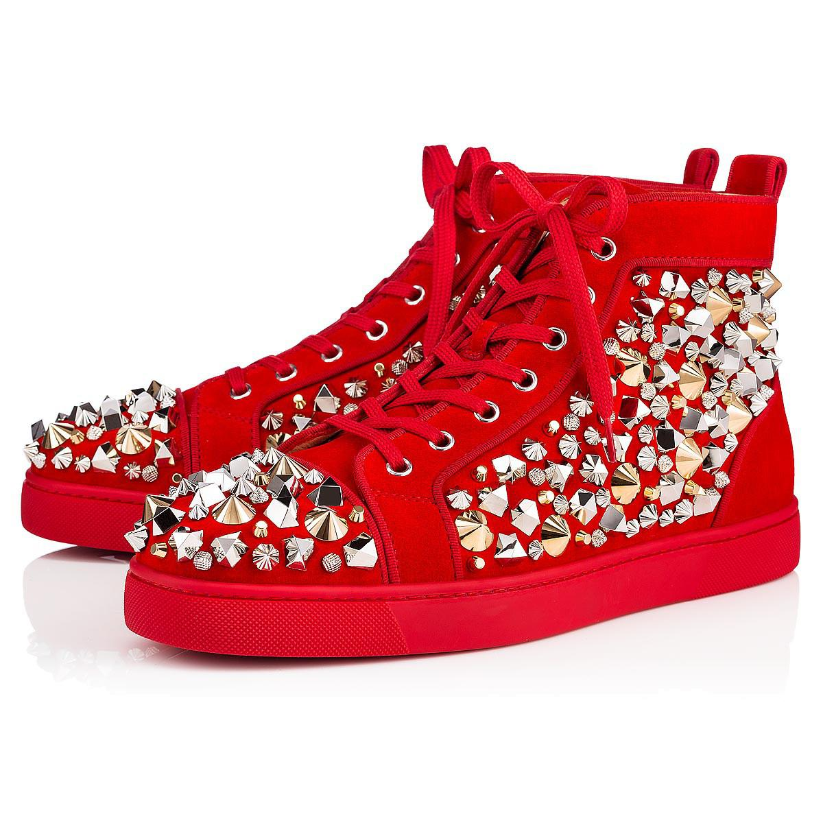 d97cf486e0c0 Lyst - Christian Louboutin Louis Mix Men s Flat in Red for Men