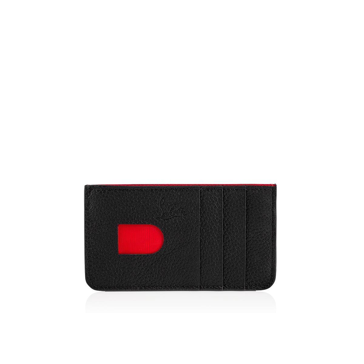 39e0cf31ffc5 Christian Louboutin - Black Credilou Cardholder for Men - Lyst. View  fullscreen