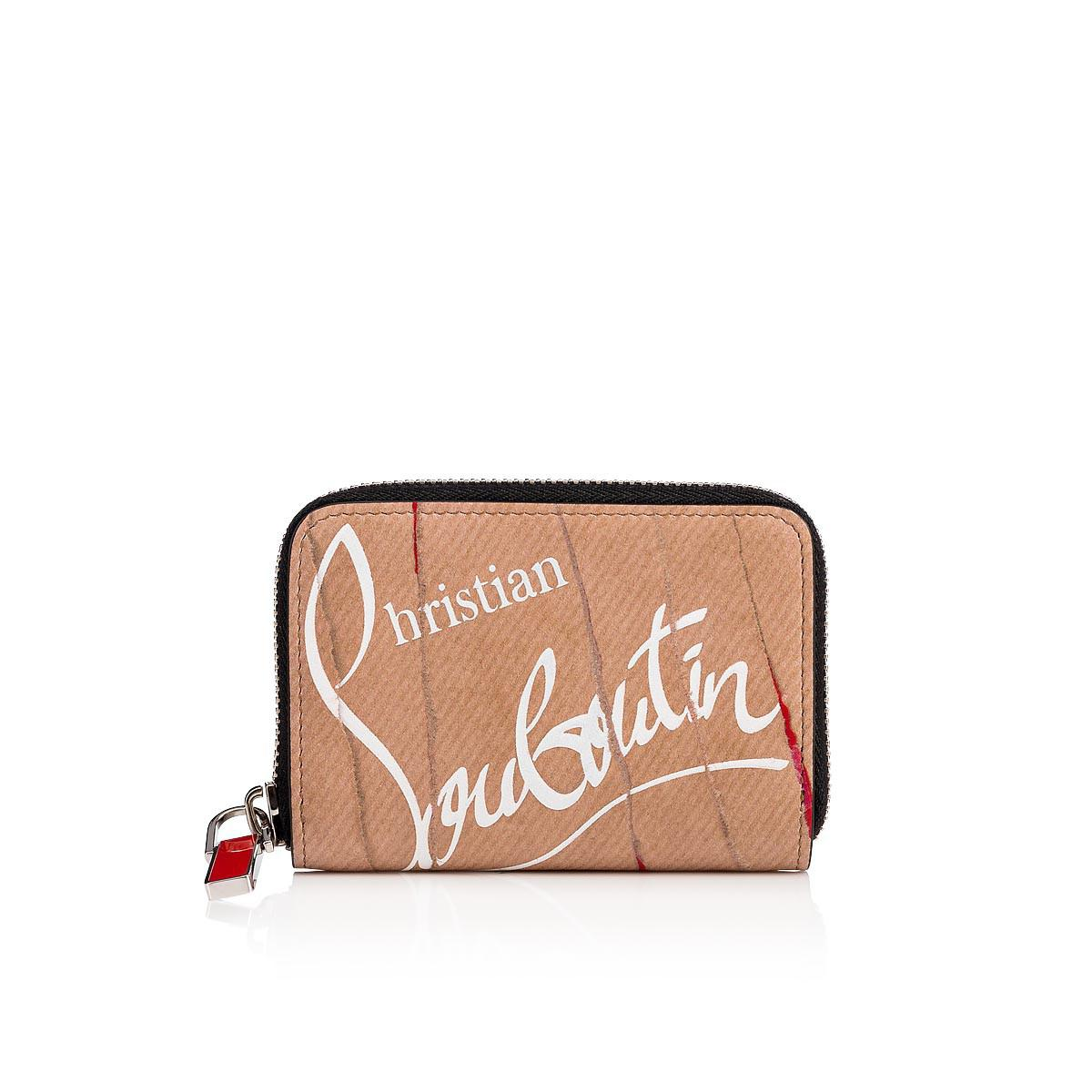 d3da74cc48e Christian Louboutin Panettone Coin Purse Kraft And Red Calfskin in ...