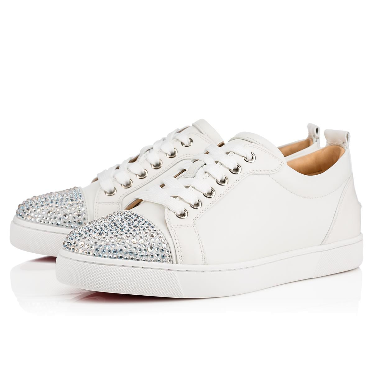 3c08b5ff477 ... sneaker dfdda f3a52  coupon code for lyst christian louboutin junior  strass woman flat in white 4f445 45ae1