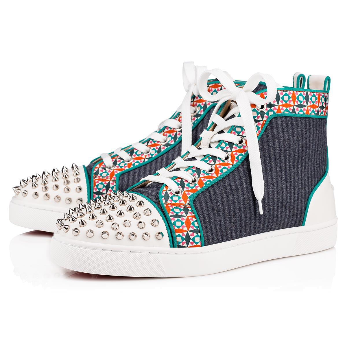the latest 42b6a e02af Lyst - Christian Louboutin Lou Spikes Orlato Men's Flat in ...