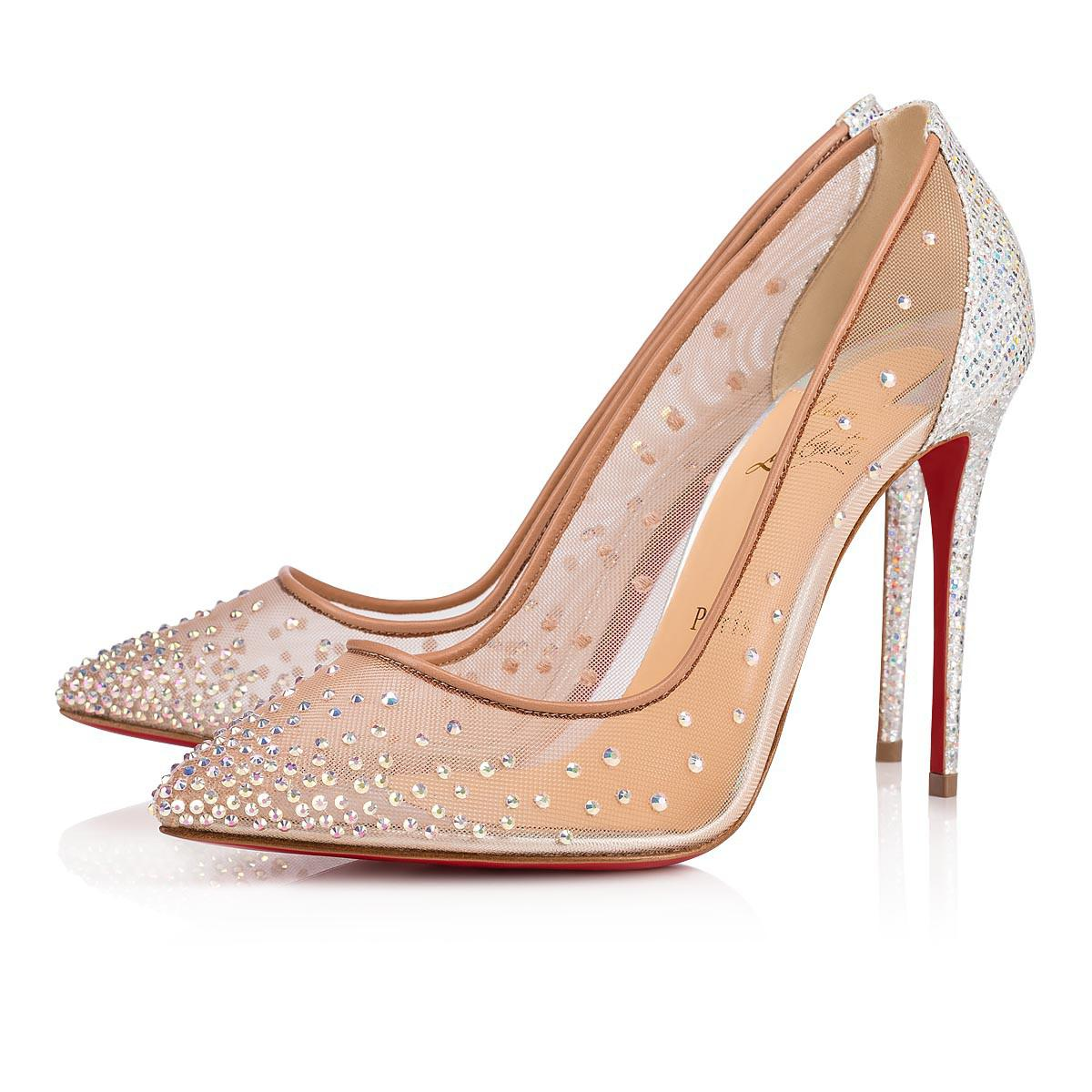 check out 3ccaf 5389c Christian Louboutin Follies Strass Rete/glitter Rainbow 100 ...