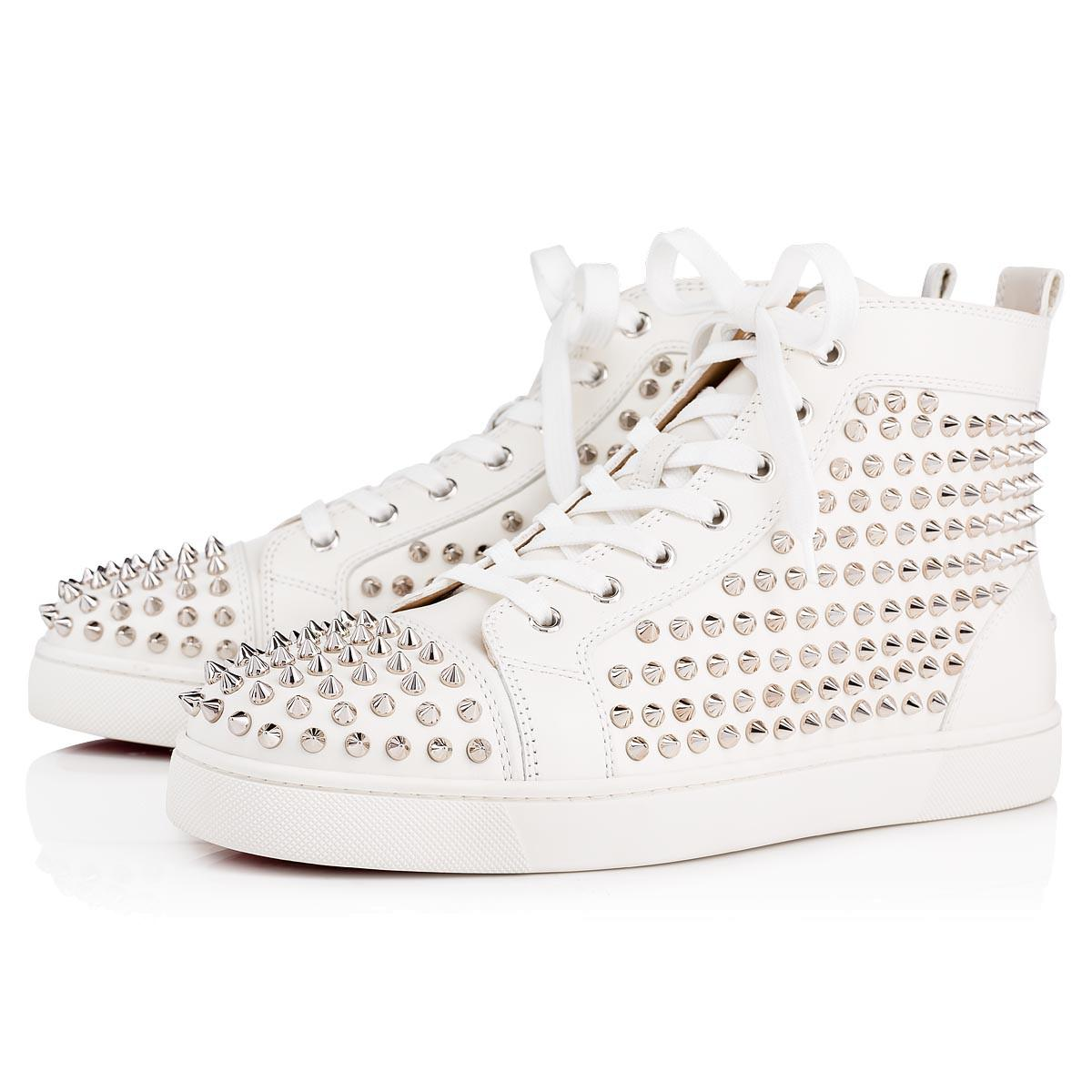 0b1f0cb49a3a Lyst - Christian Louboutin Louis Spikes Men s Flat for Men