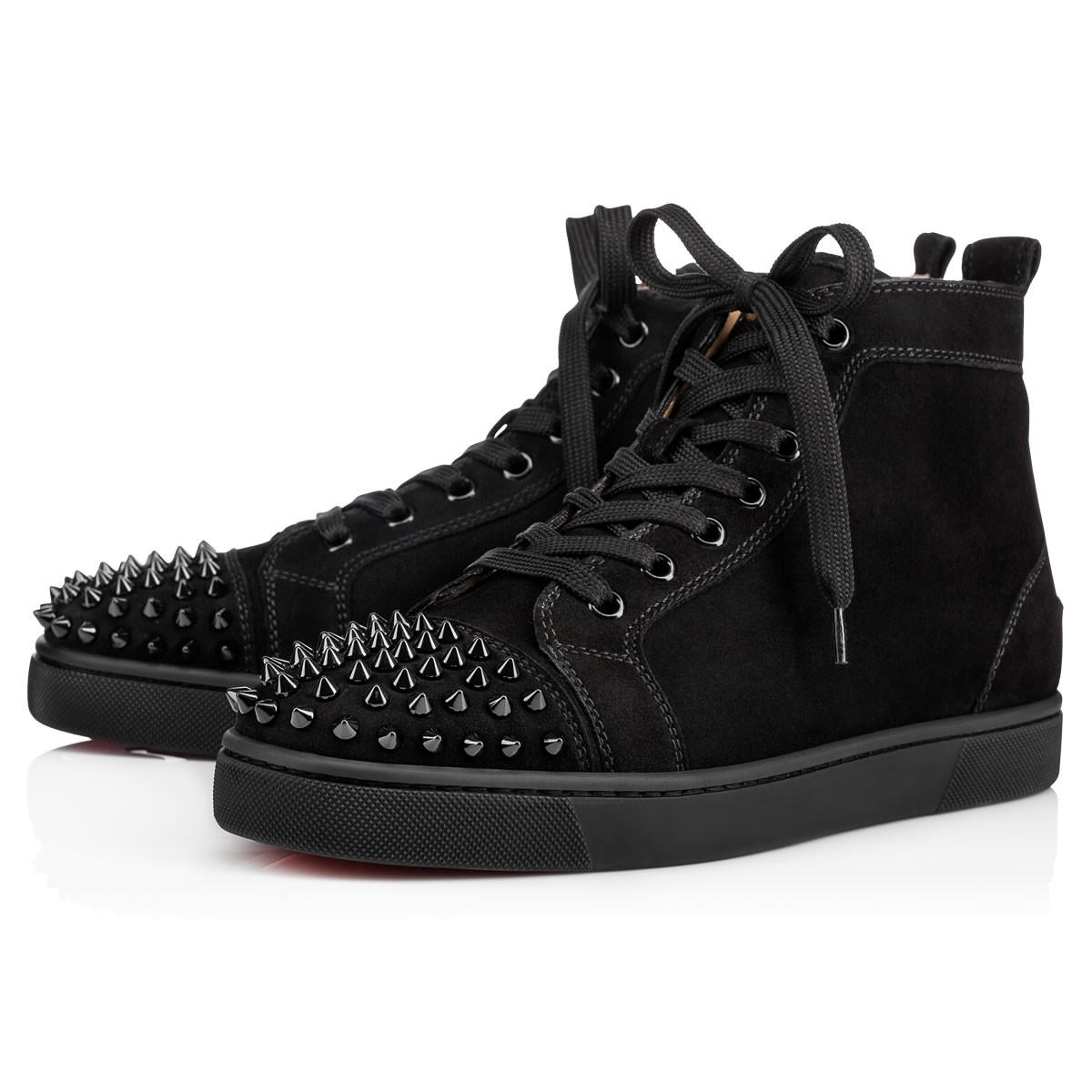 4ff33c3c0f46 Lyst - Christian Louboutin Lou Spikes Flat in Black for Men