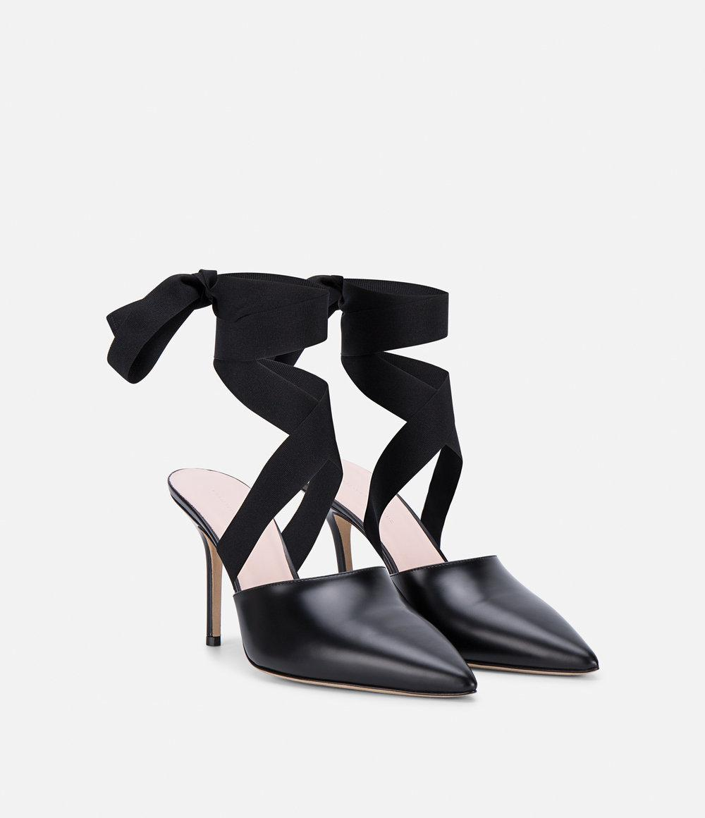 cf3687f5e0a Lyst - Christopher Kane Ribbon Tie Mule in Black