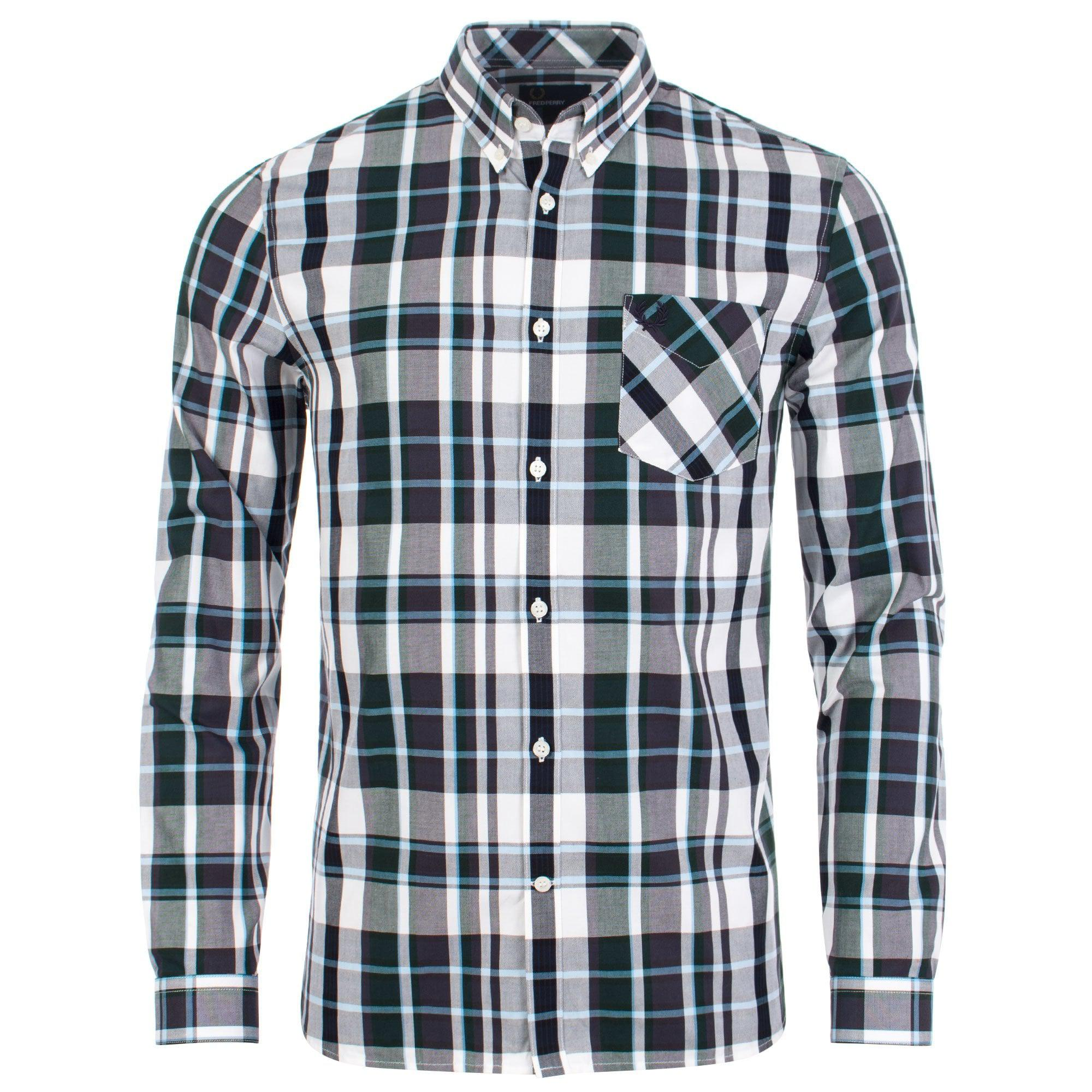 bd3f60e9d2 Fred Perry Bold Check Shirt in Blue for Men - Lyst