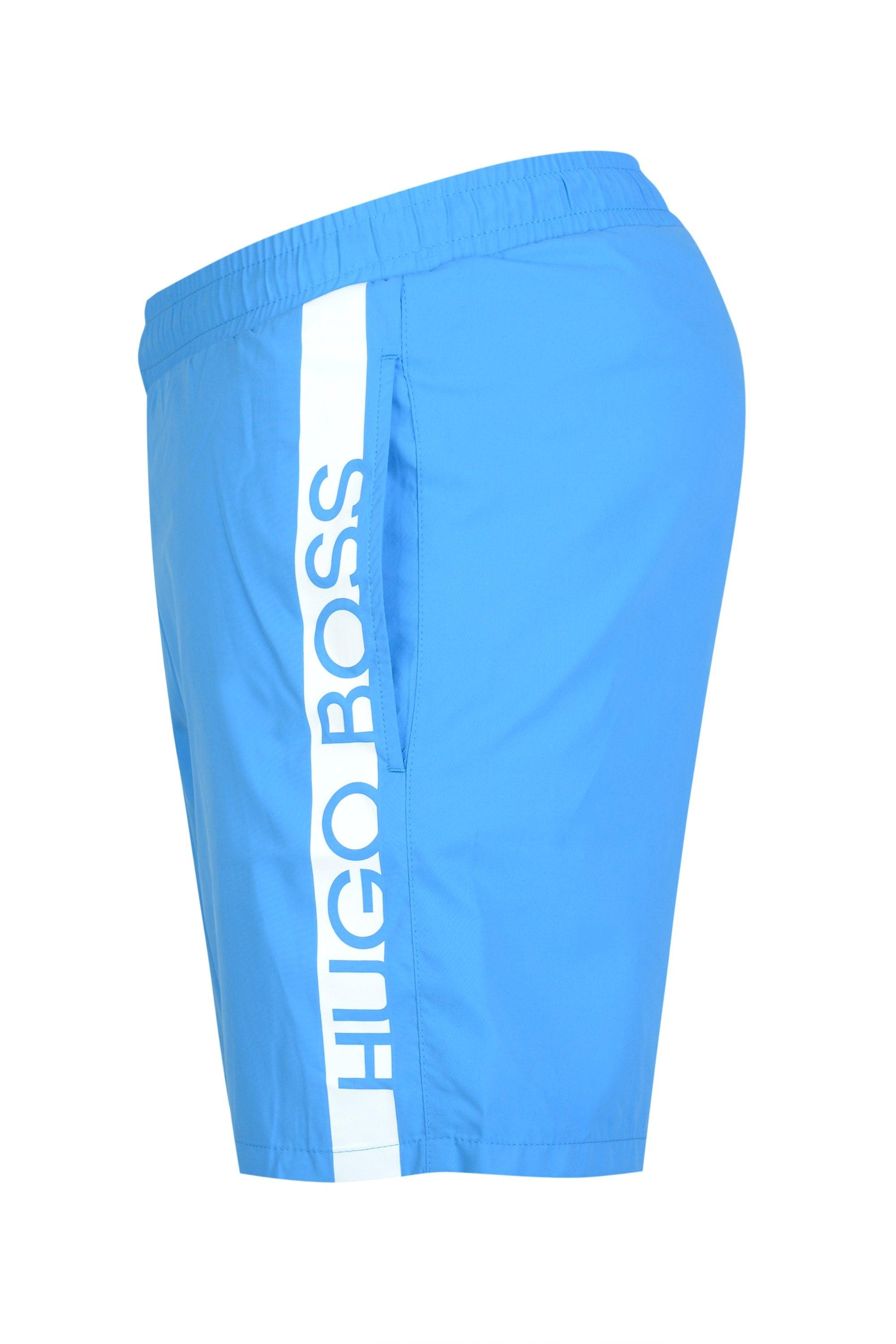 9016557b00 BOSS - Blue Hugo Dolphin Swim Shorts for Men - Lyst. View fullscreen