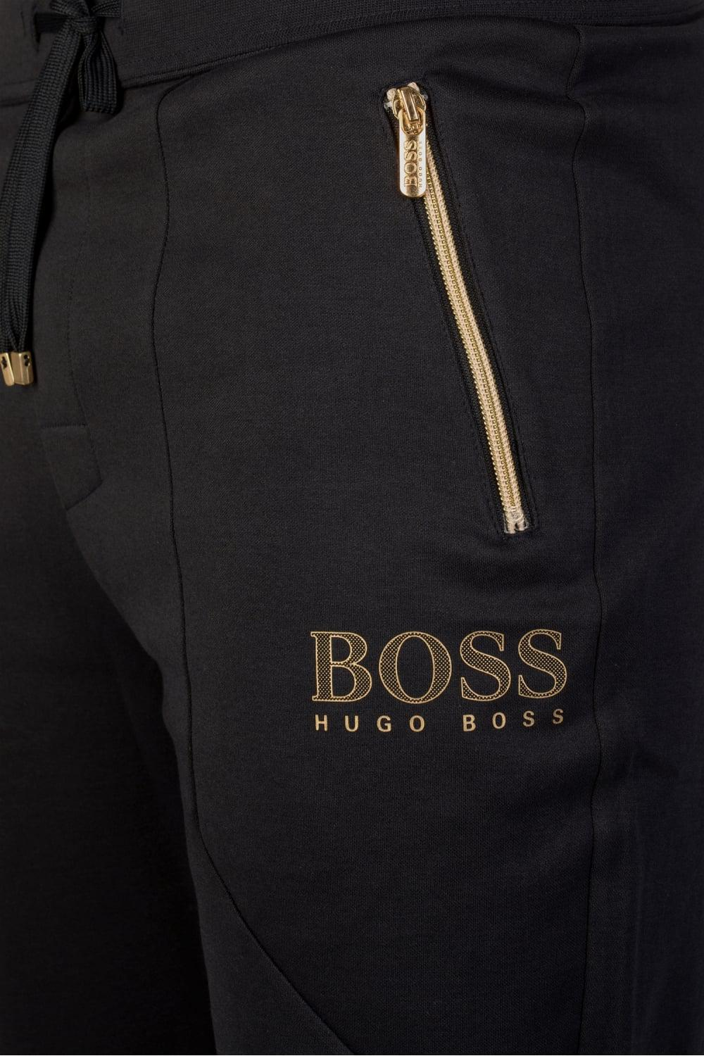 9243a6316 BOSS Tracksuit Pants Navy & Gold in Blue for Men - Lyst