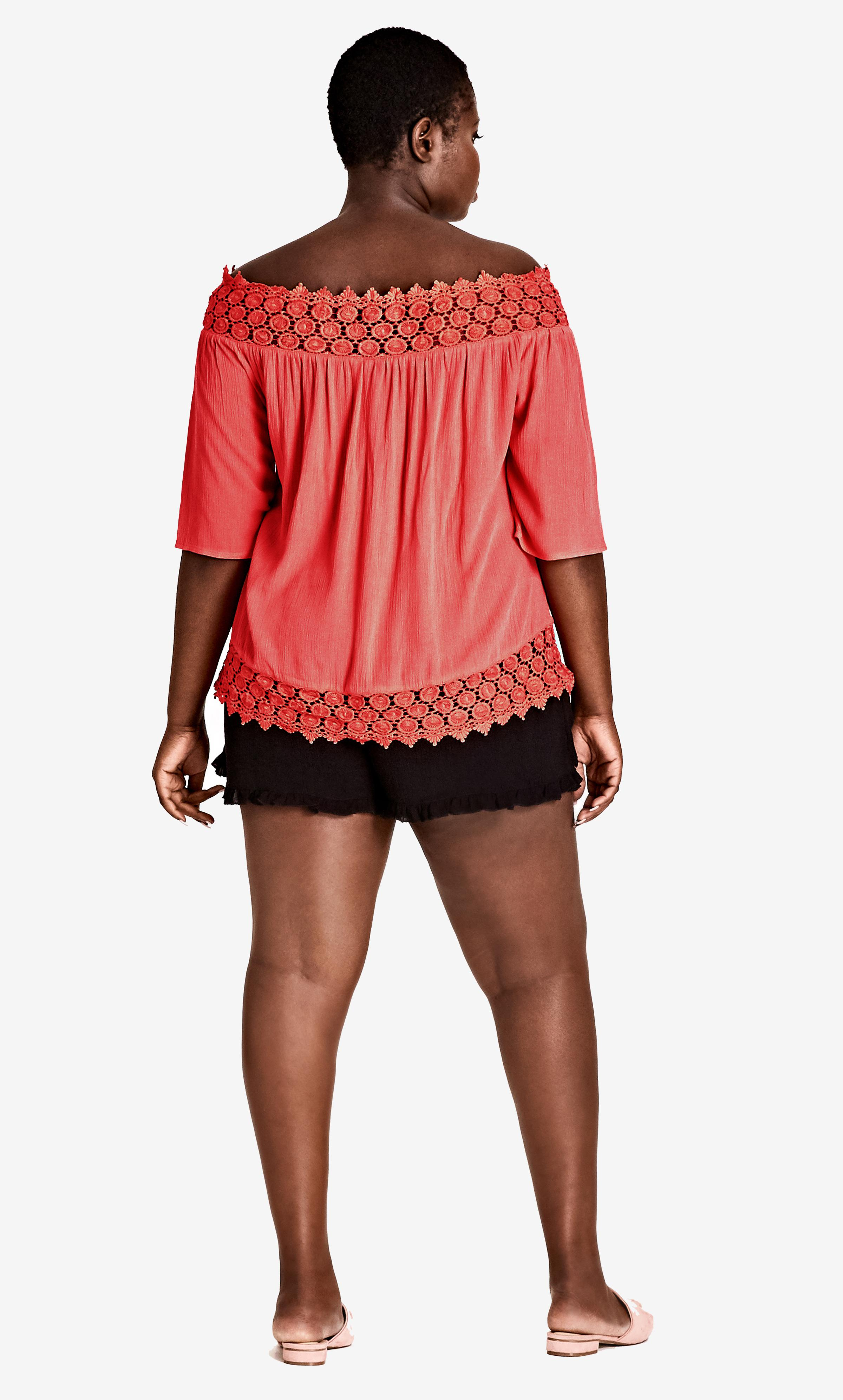 aada1b24645a6c Lyst - City Chic Dark Coral Grace Off Shoulder Top in Pink