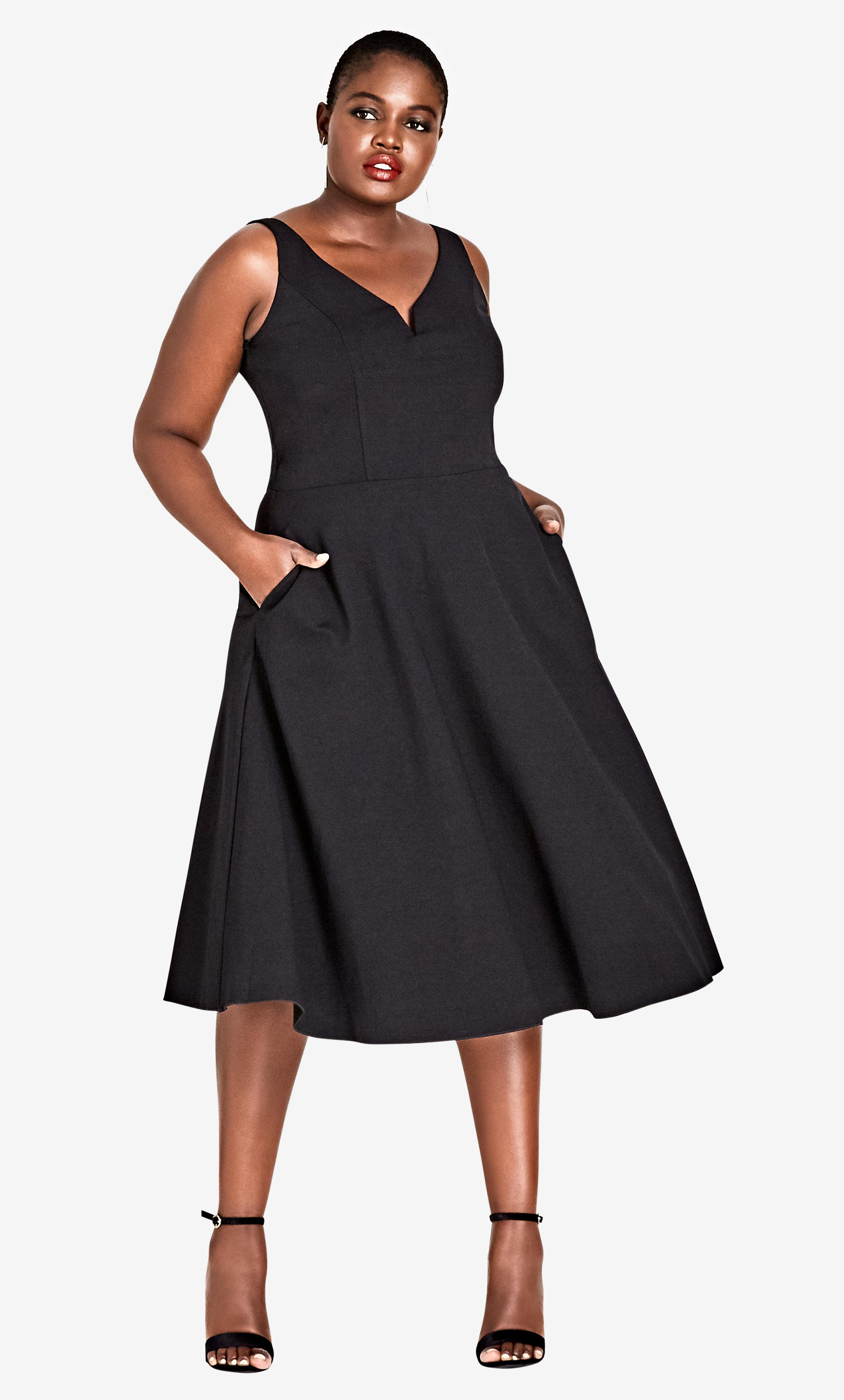 bc8ad9188fd Lyst - City Chic Cute Girl Fit   Flare Dress - Black in Black