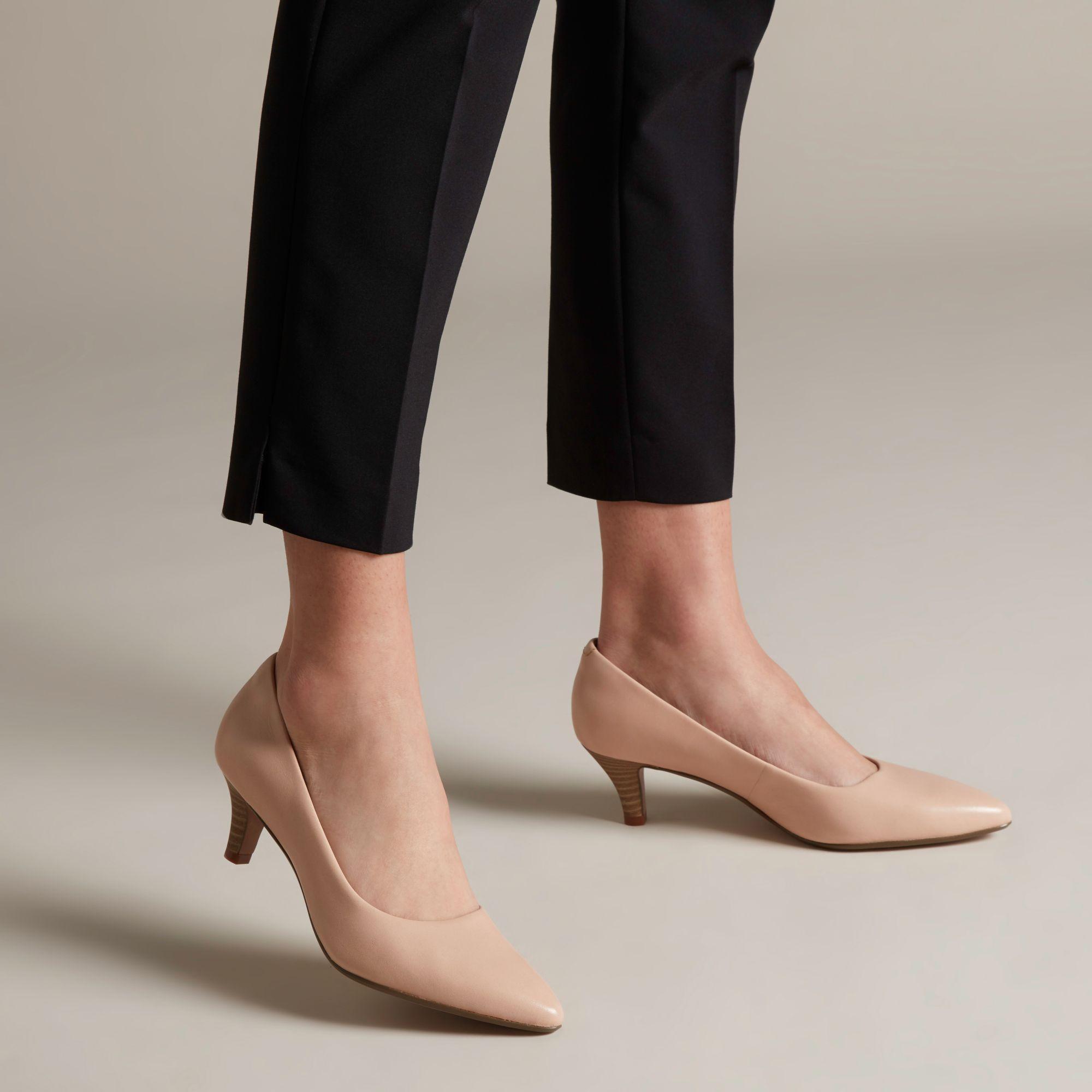 21b9960a99d5a Lyst - Clarks Linvale Jerica Womens Wide Fit Dress Court Shoes ...