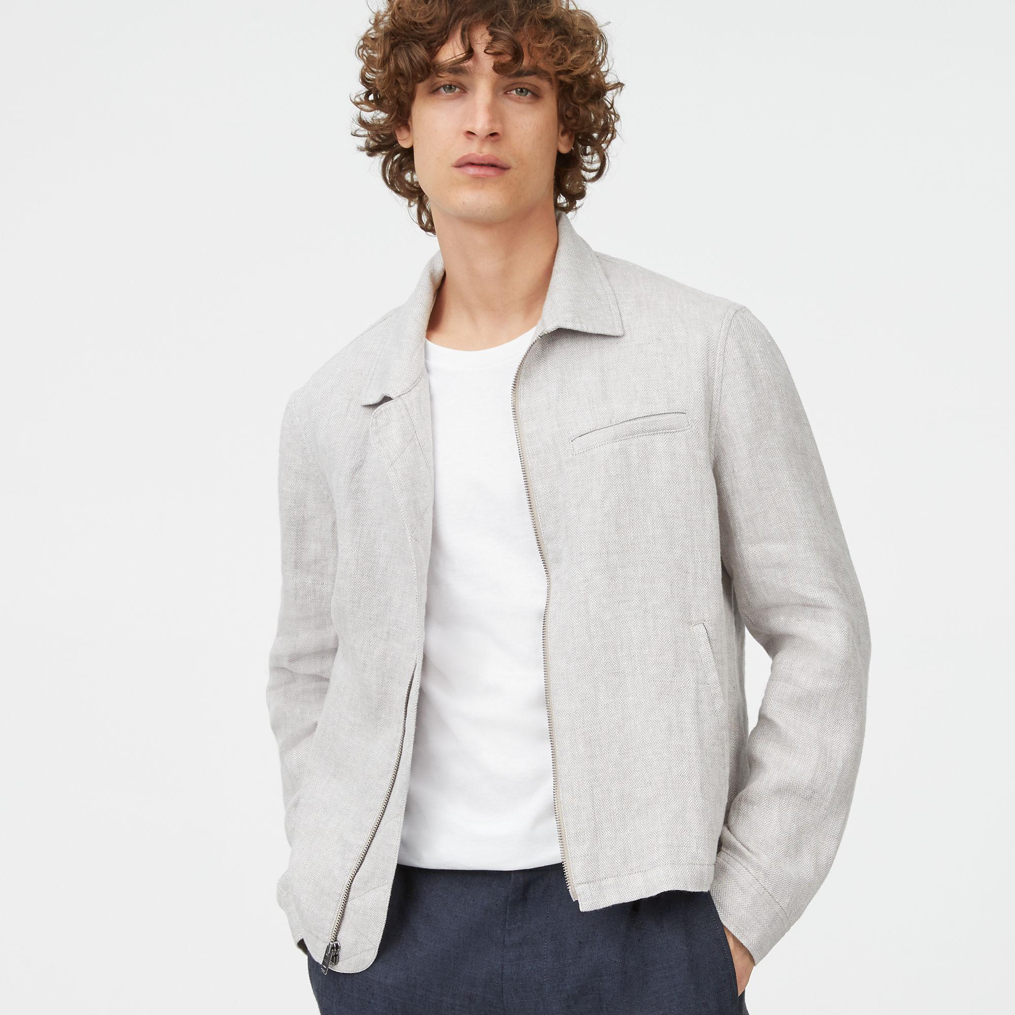 Short Lyst Club For Jacket Monaco Zip Gray Full Men In Azqtz