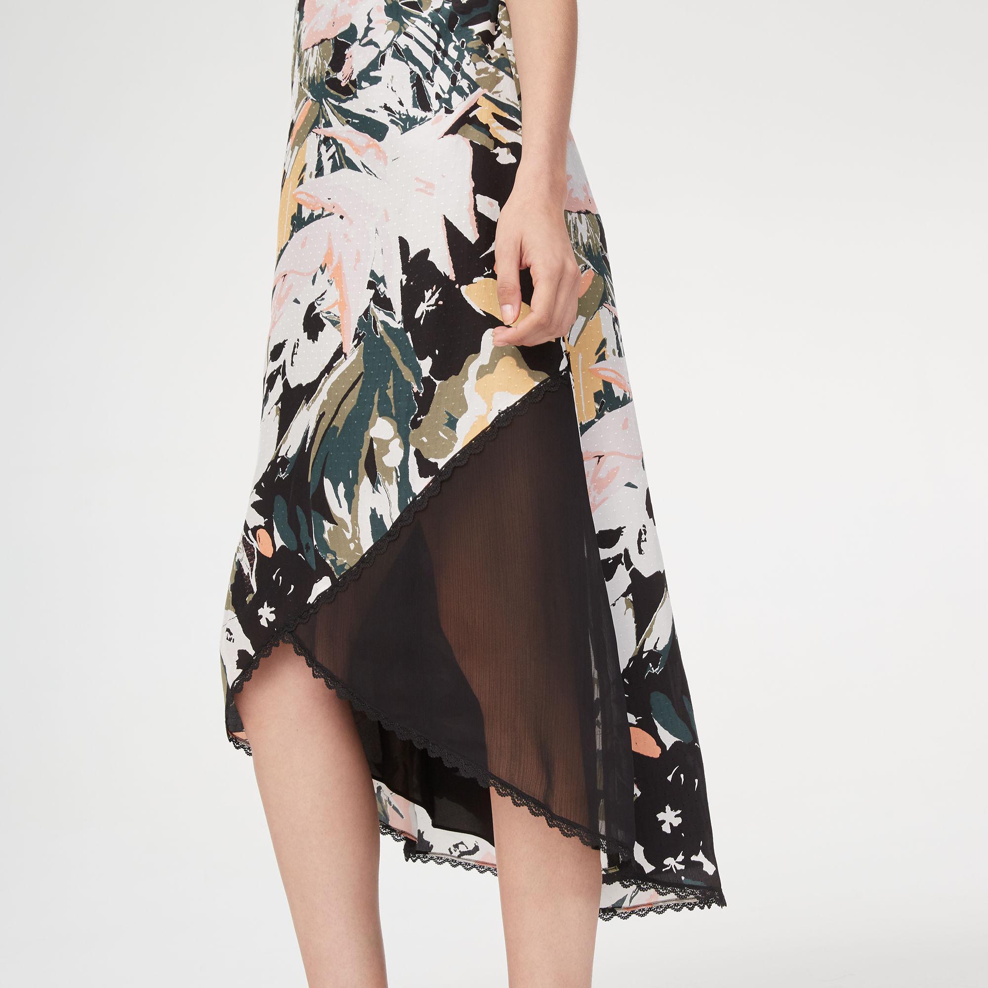ef346052e448 Club Monaco Kittrick Silk Slip Dress in Black - Lyst