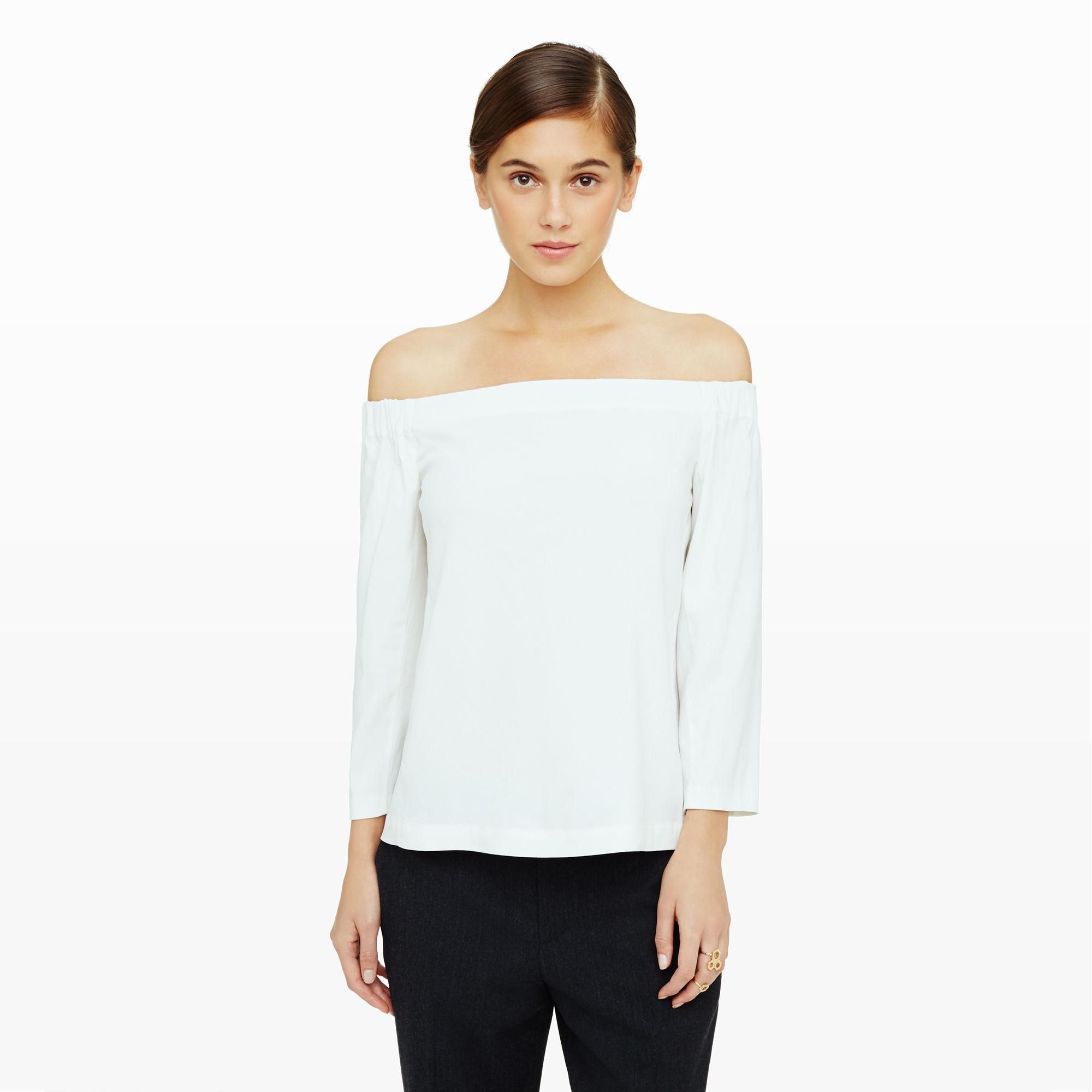 e2a5c0f52578f5 Lyst - Club Monaco Yandel Off-the-shoulder Top in White