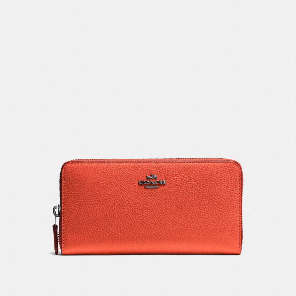 COACH. Women's Red Accordion Zip Wallet