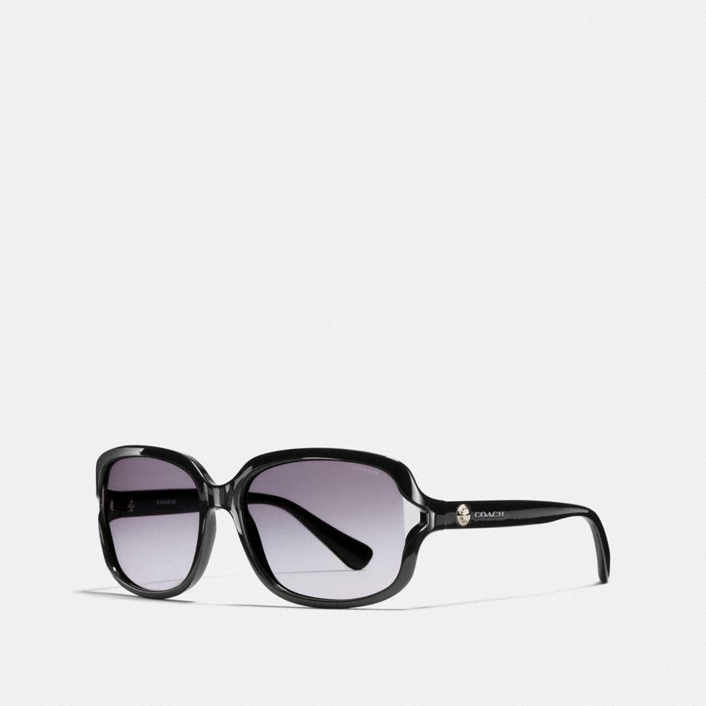 5e563c327f8c COACH Rivet Square Sunglasses in Black - Lyst