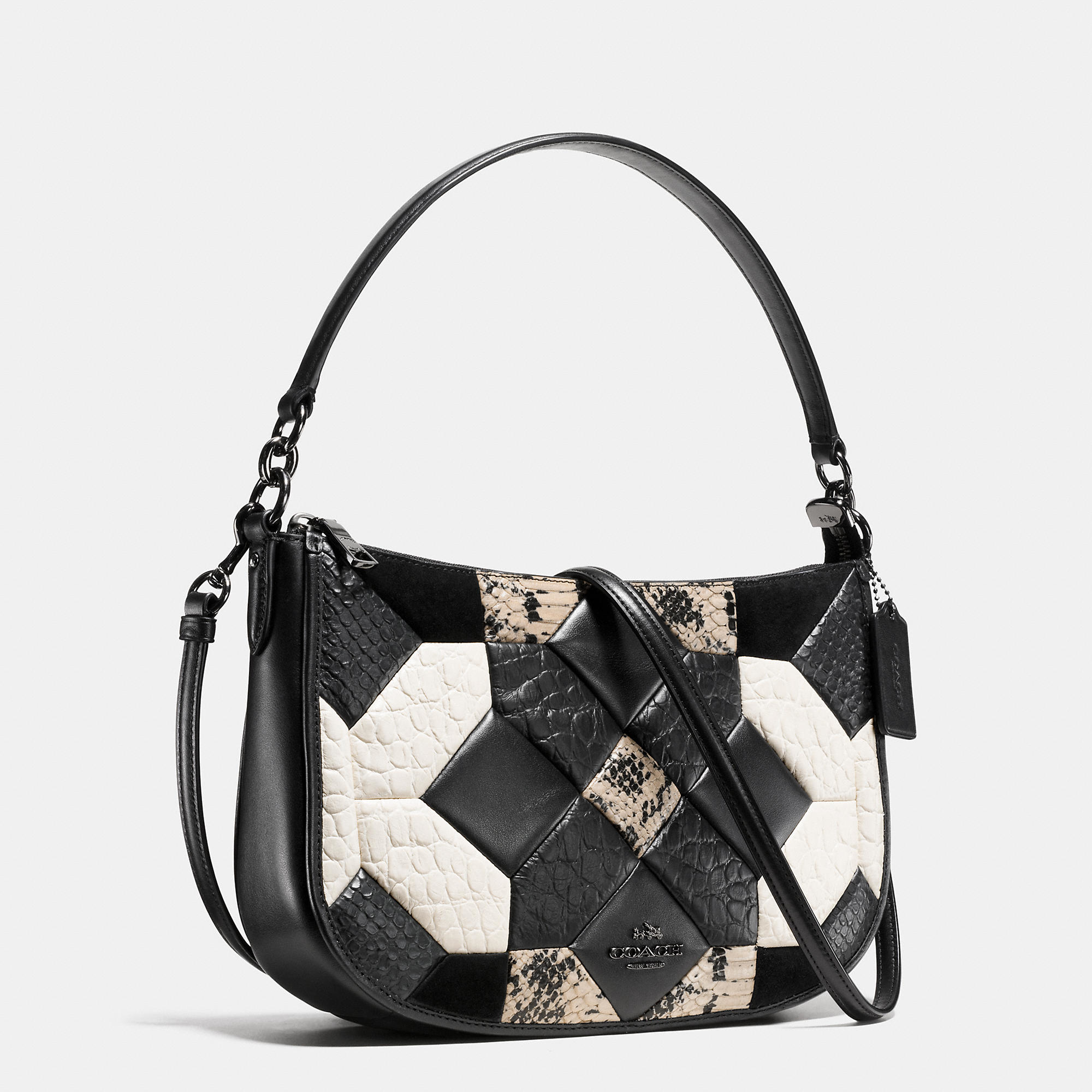7dc11a5c9edb Lyst - COACH Canyon Quilt Chelsea Crossbody In Exotic Embossed Leather