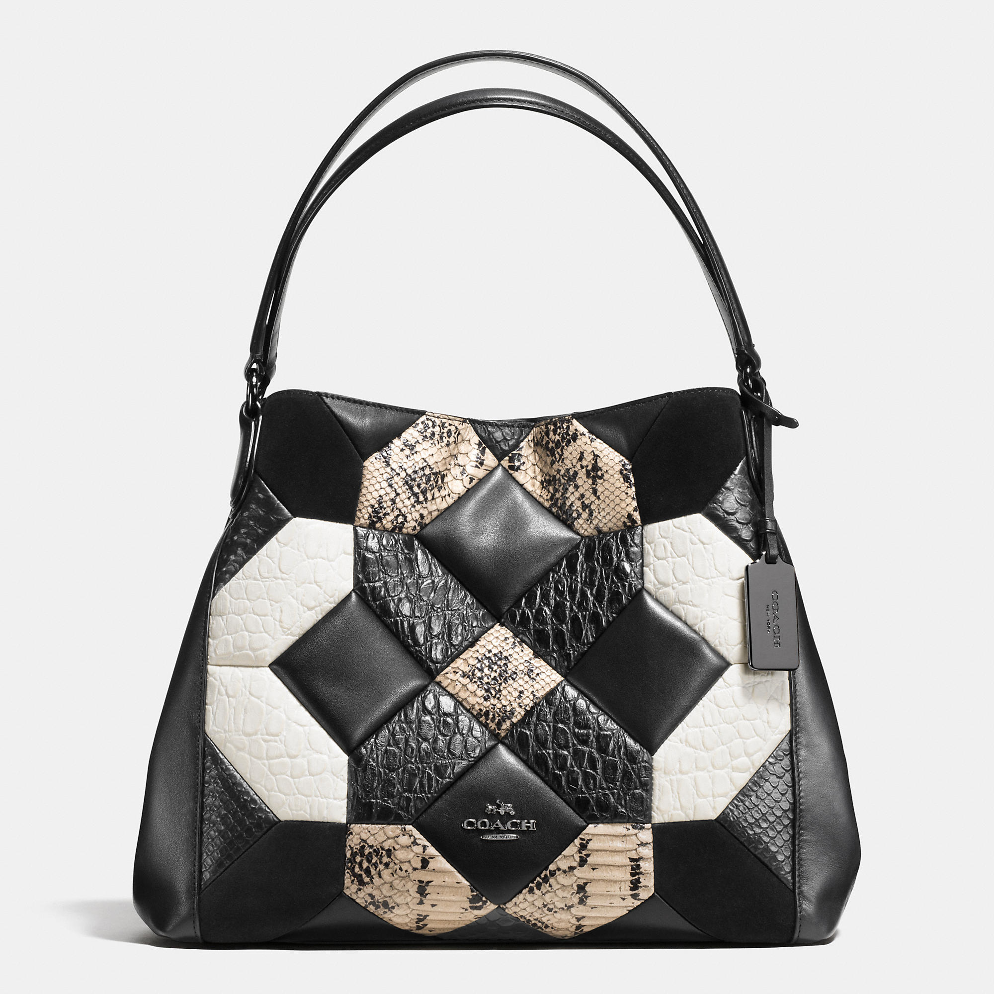 Coach Canyon Quilt Edie Shoulder Bag 31 In Exotic Embossed