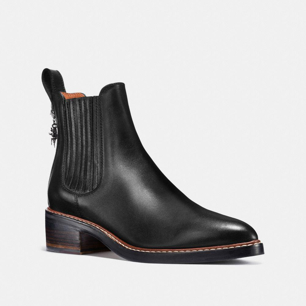 COACH. Women's Black Bowery Chelsea Boot