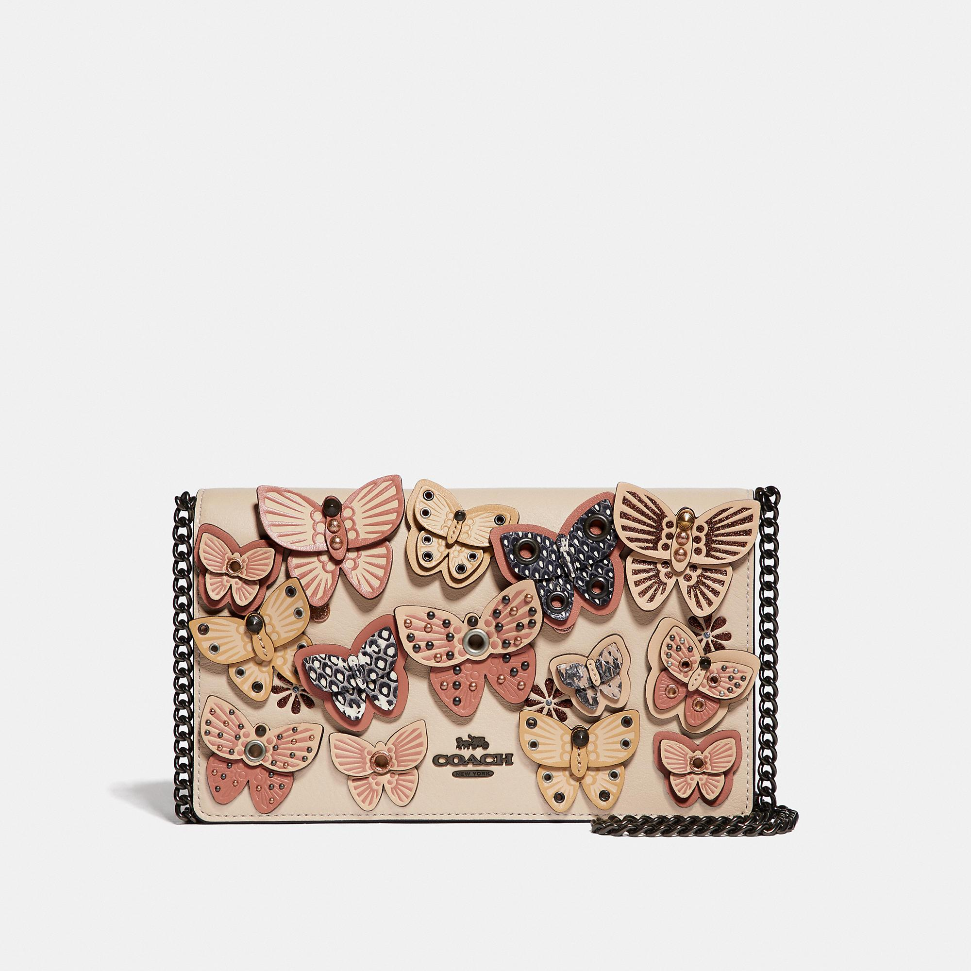 Lyst - COACH Callie Foldover Chain Clutch With Ombre