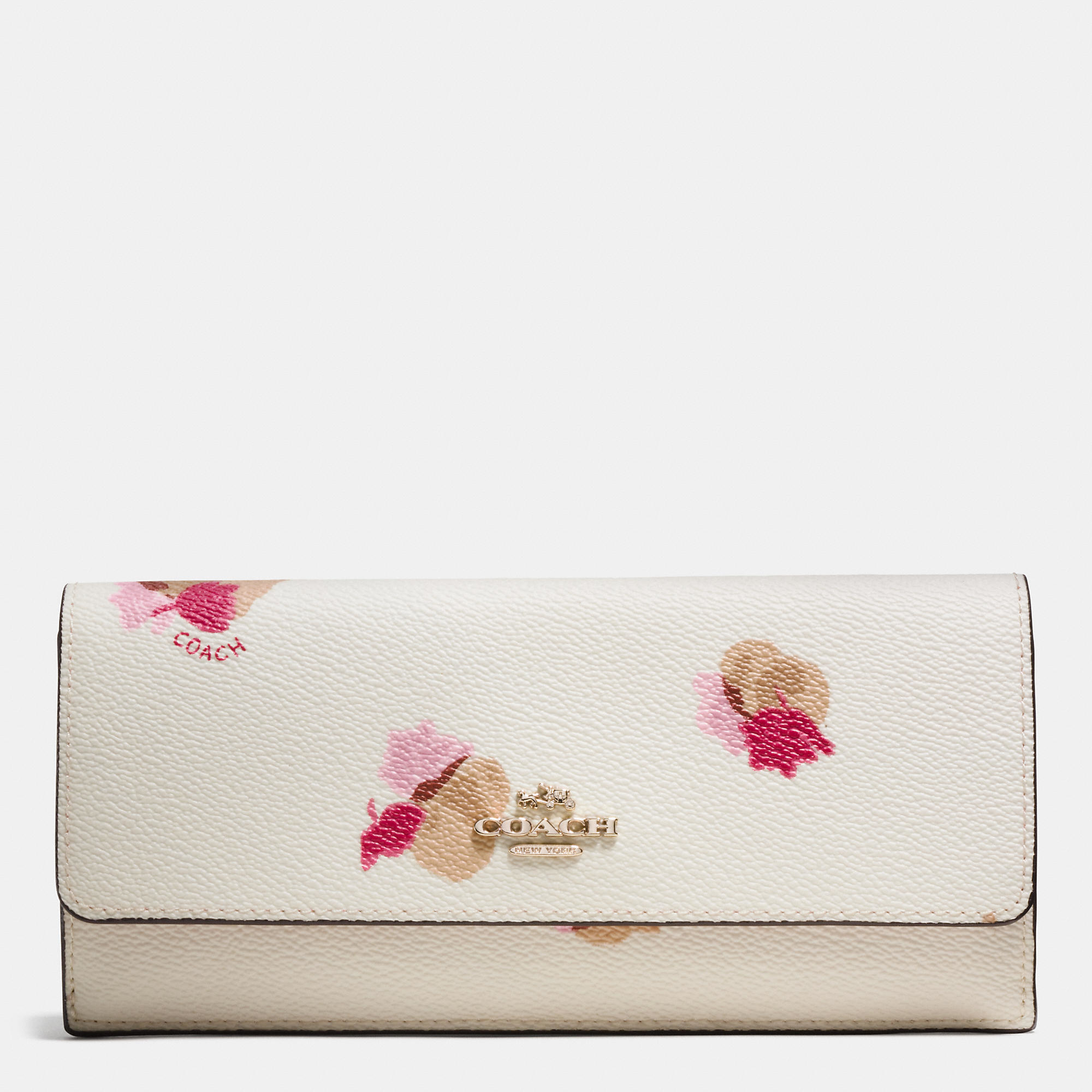 Lyst coach soft wallet in floral print coated canvas in white gallery mightylinksfo