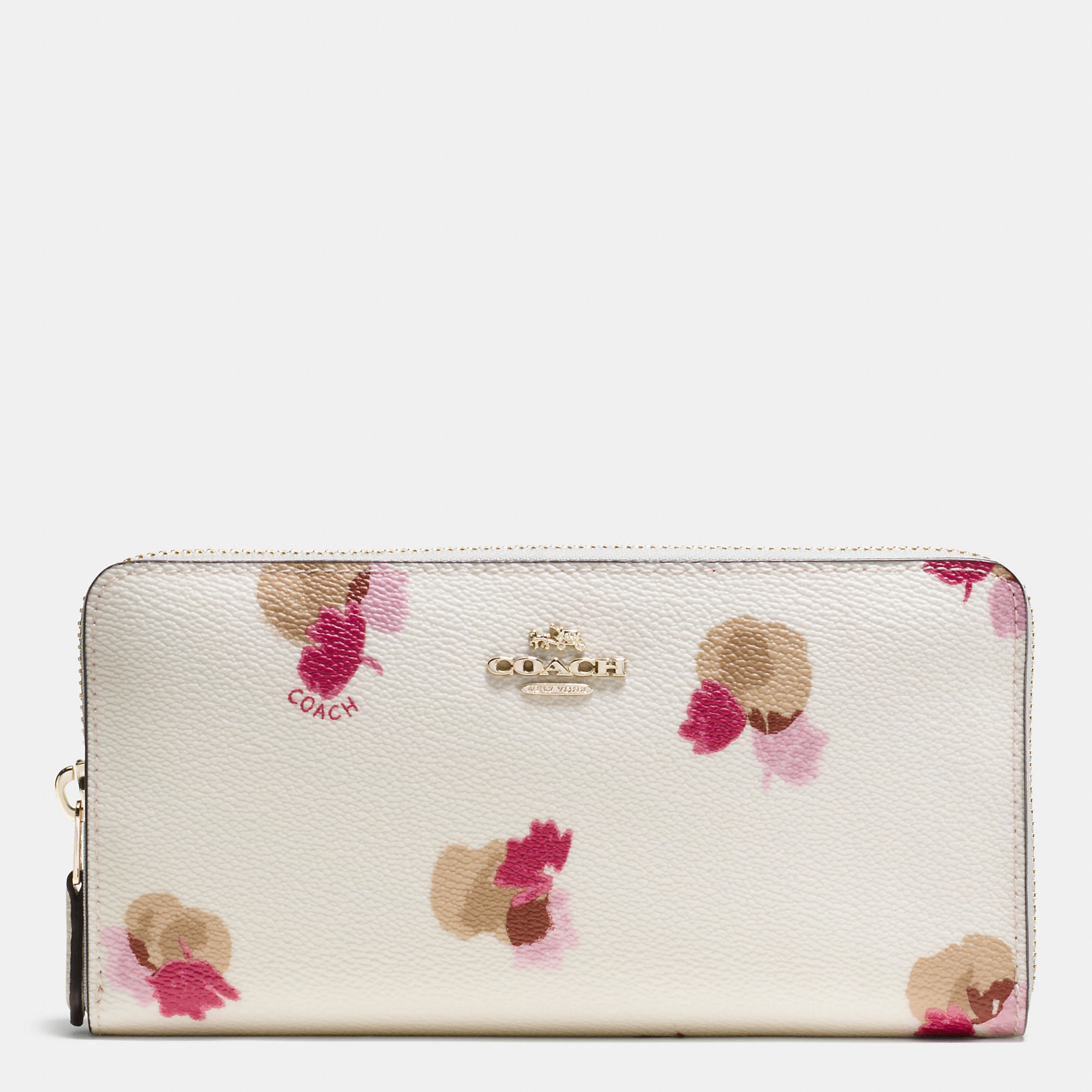 Lyst coach accordion zip wallet in floral print coated canvas in pink gallery mightylinksfo