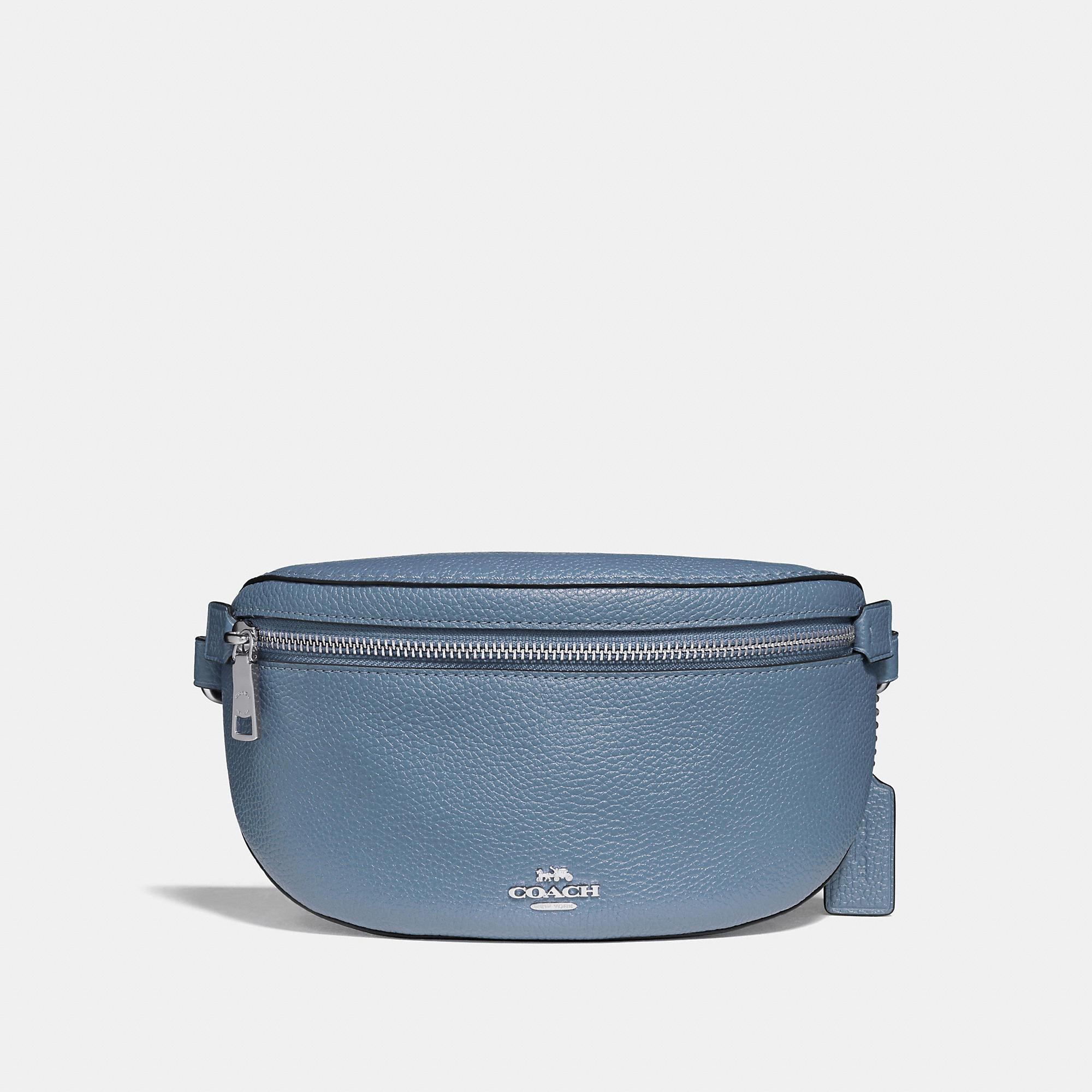 COACH - Blue Belt Bag - Lyst. View fullscreen d4ec0da7a6e2c